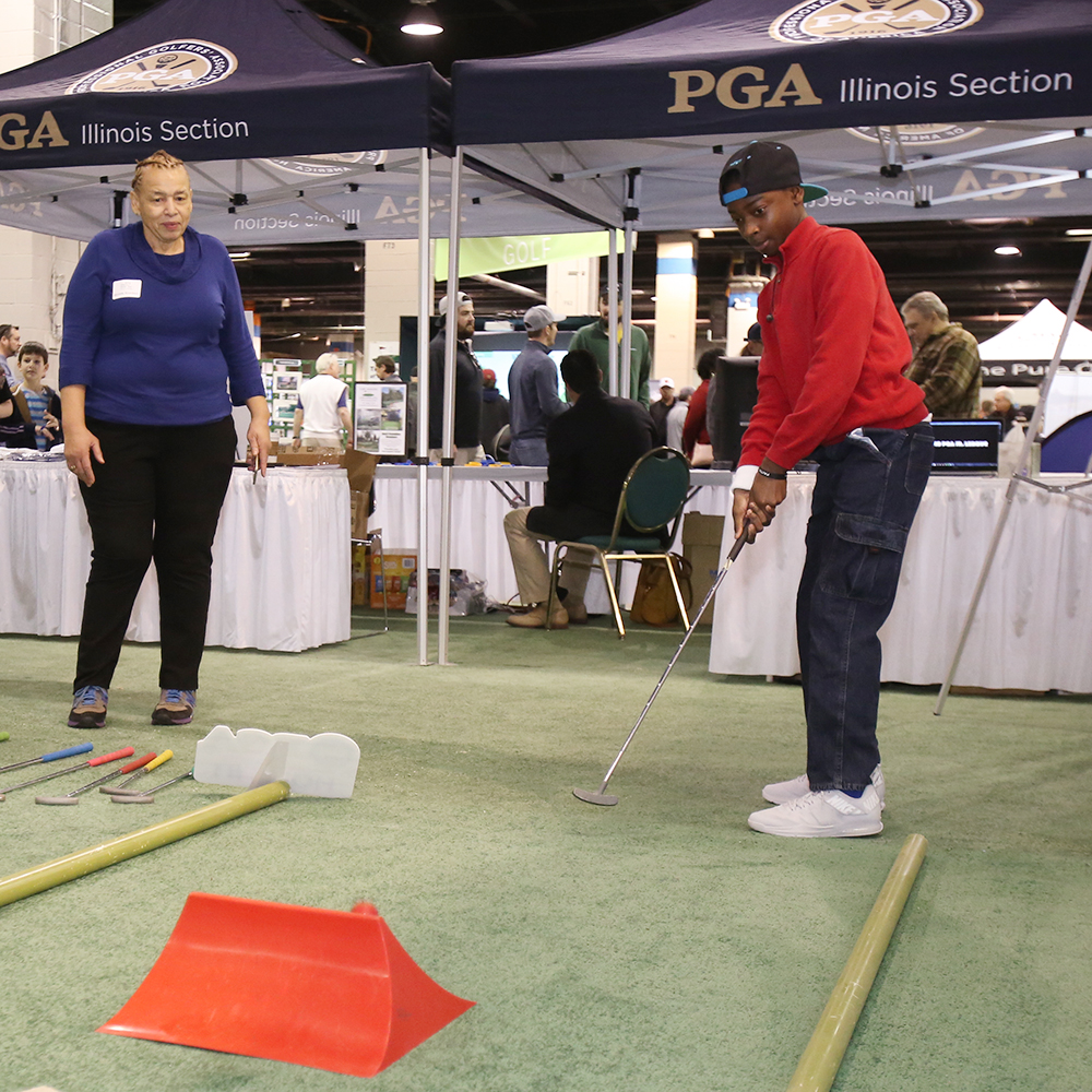 Every year, the Illinois PGA provides fun activities for young golfers to test their skills!