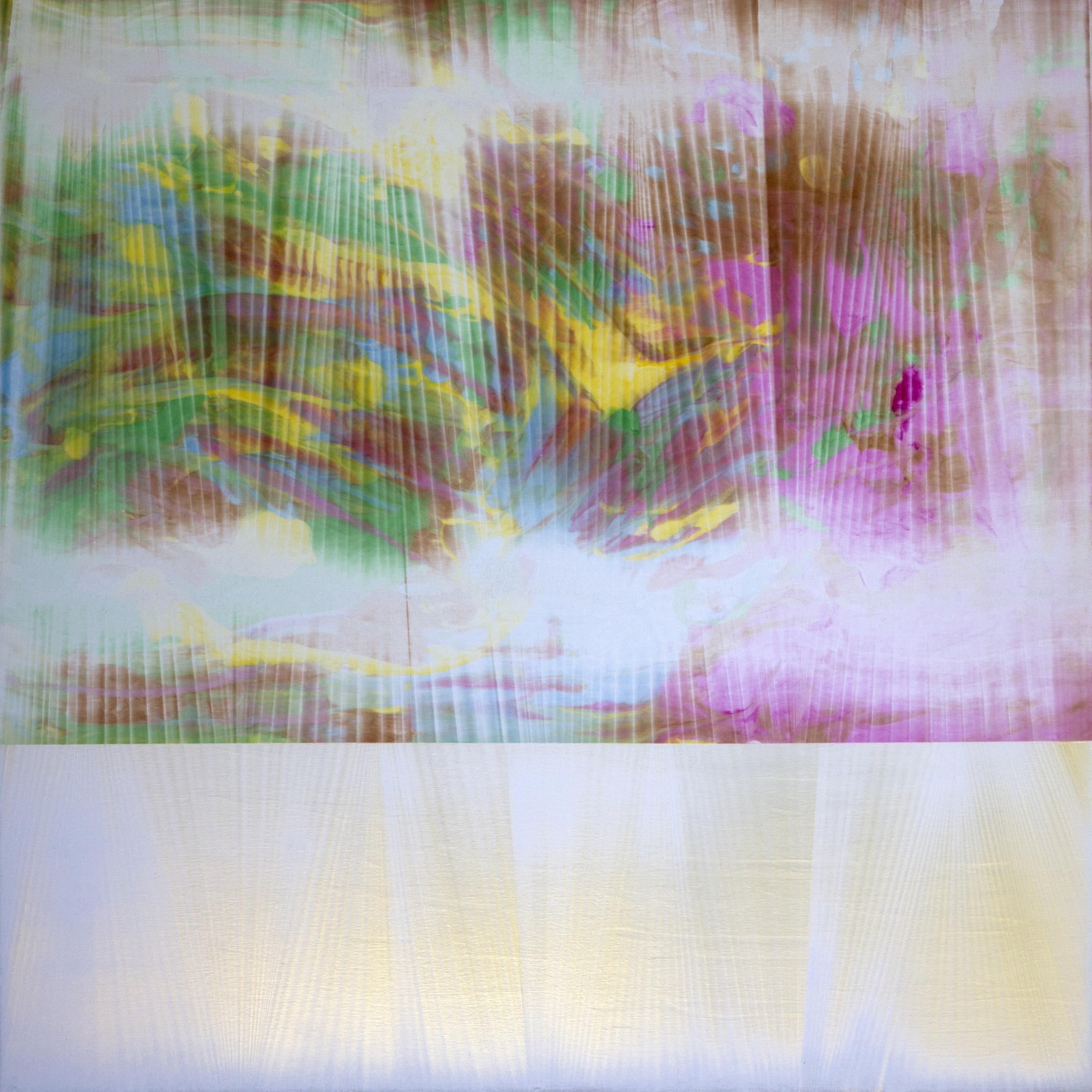 """Untitled  Thomas Zitzwitz ZW157 Acrylic on Canvas 60"""" x 60"""""""