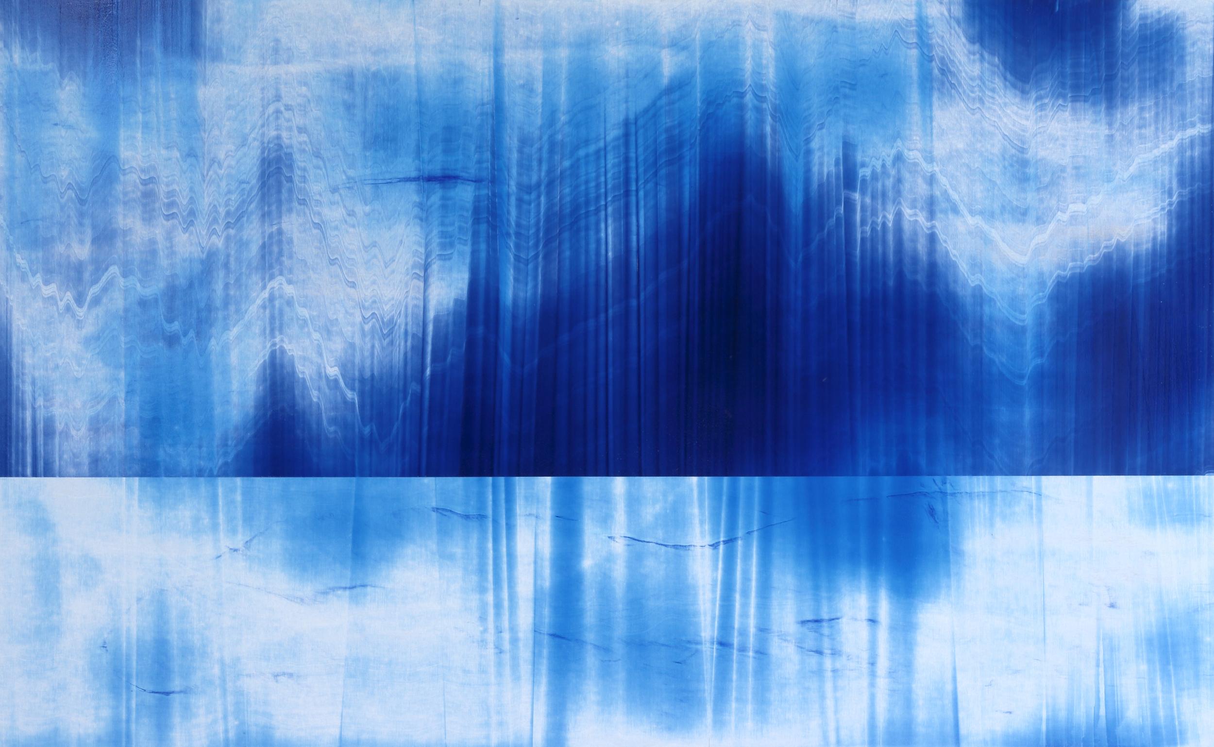 """Untitled  Thomas Zitzwitz ZW153 Acrylic on Canvas 46"""" x 75"""""""
