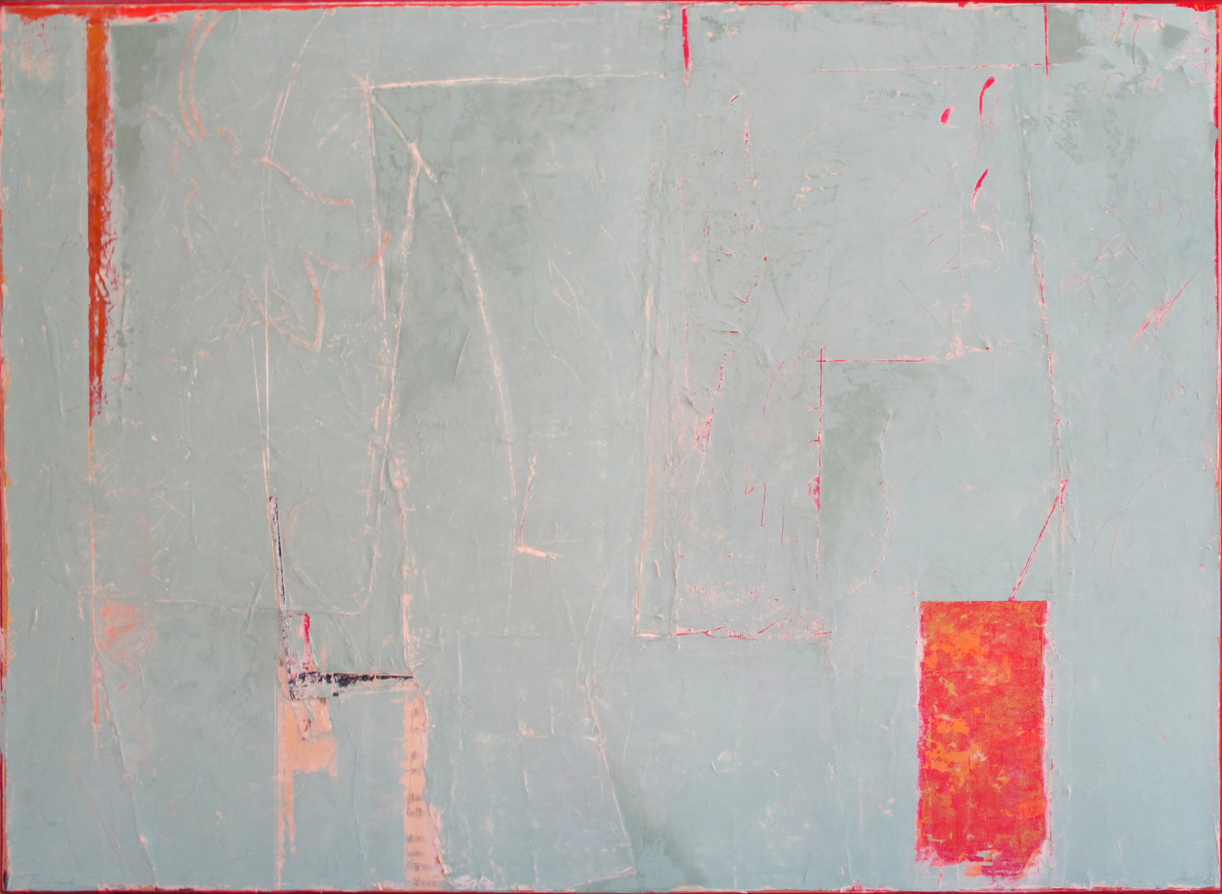 "Ad Altare  John Pavlicek JP3367 Mixed Media on Canvas 44"" x 60"""