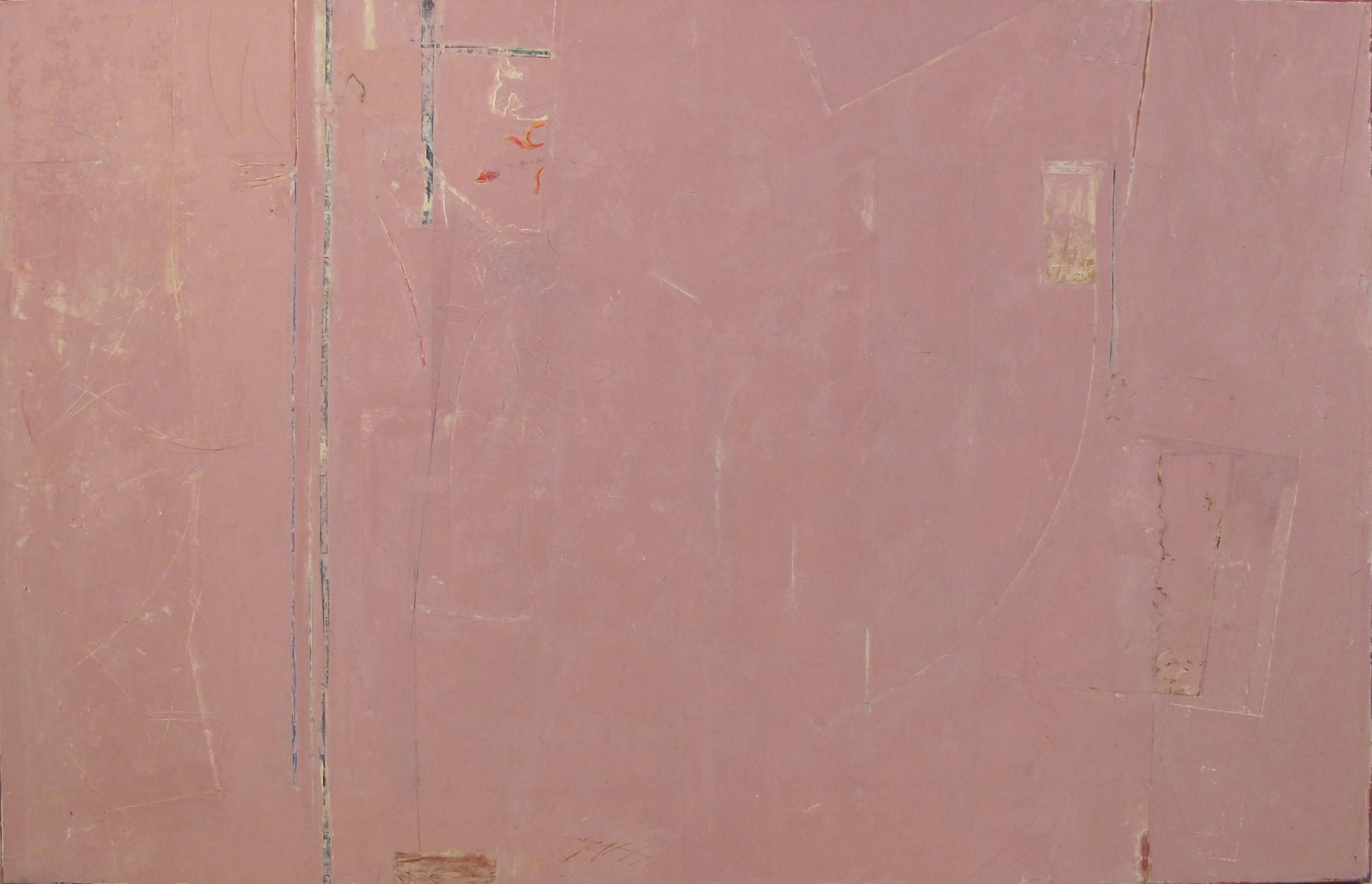 "Up in the Corner  John Pavlicek JP3346 Mixed Media on Canvas 42"" x 66"""