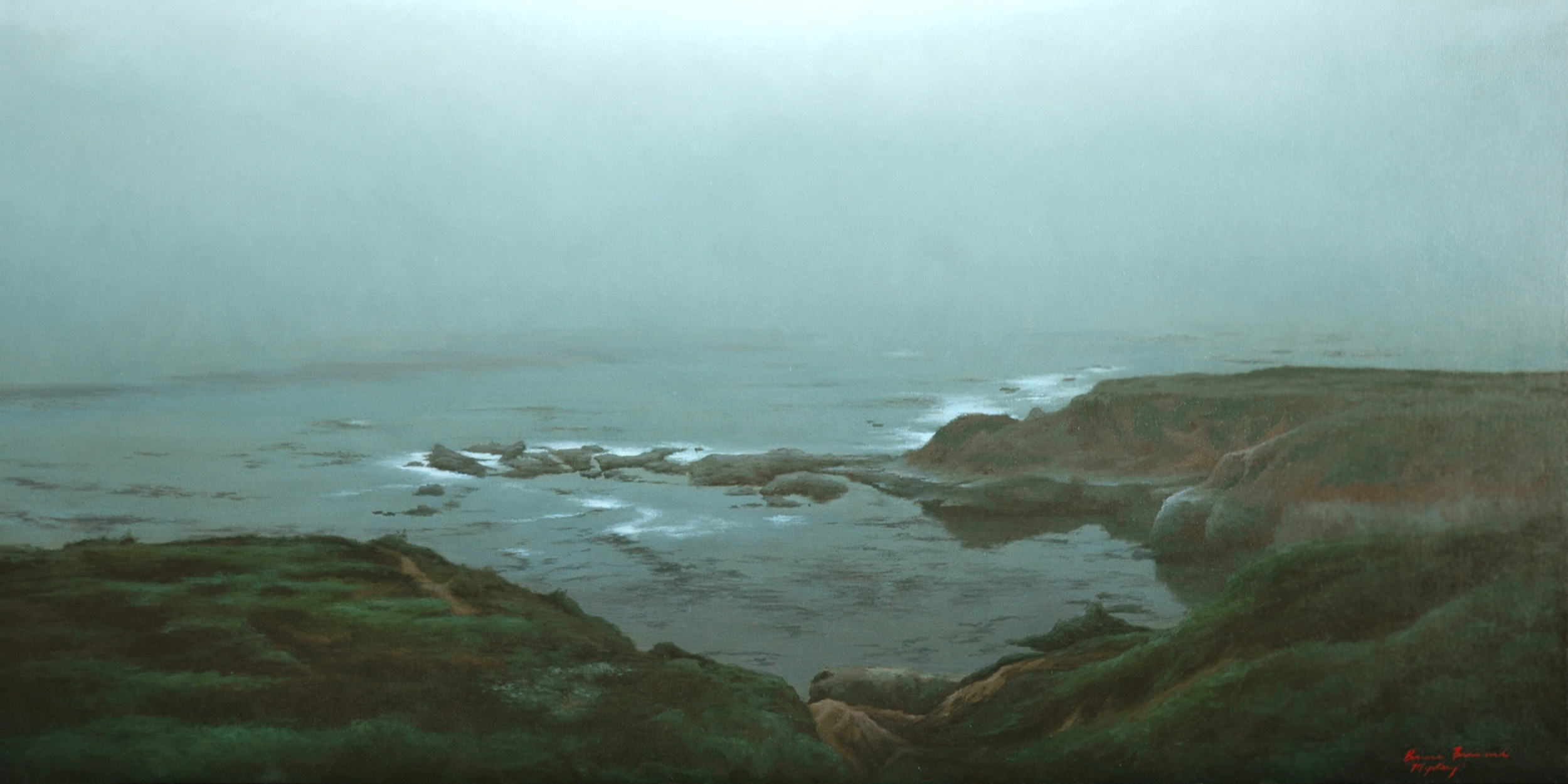 "Mystery  Bruce Brainard BR888 Oil on Canvas 24"" x 48"""