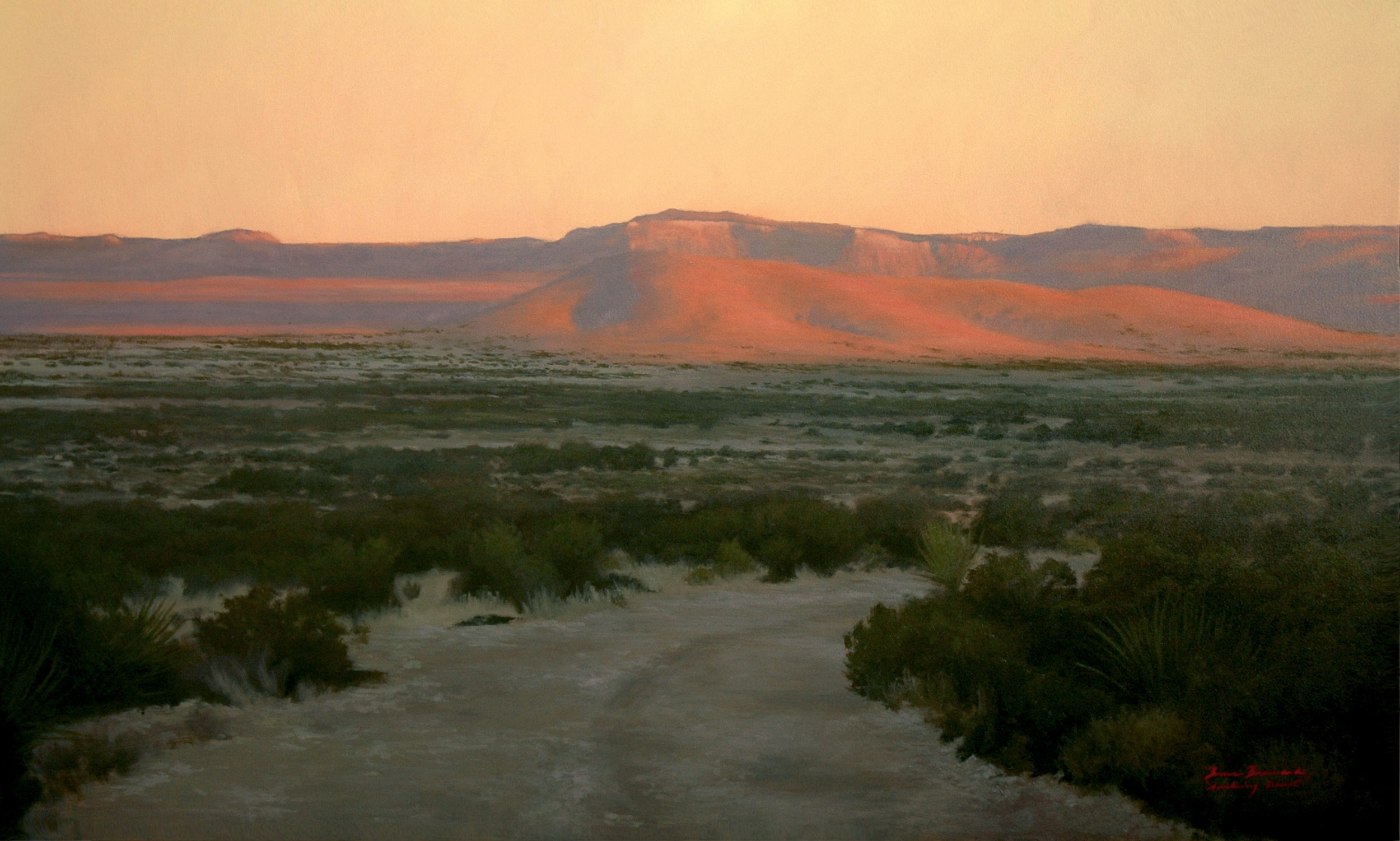 "Awakening Desert  Bruce Brainard BR914 Oil on Canvas 36"" x 60"""