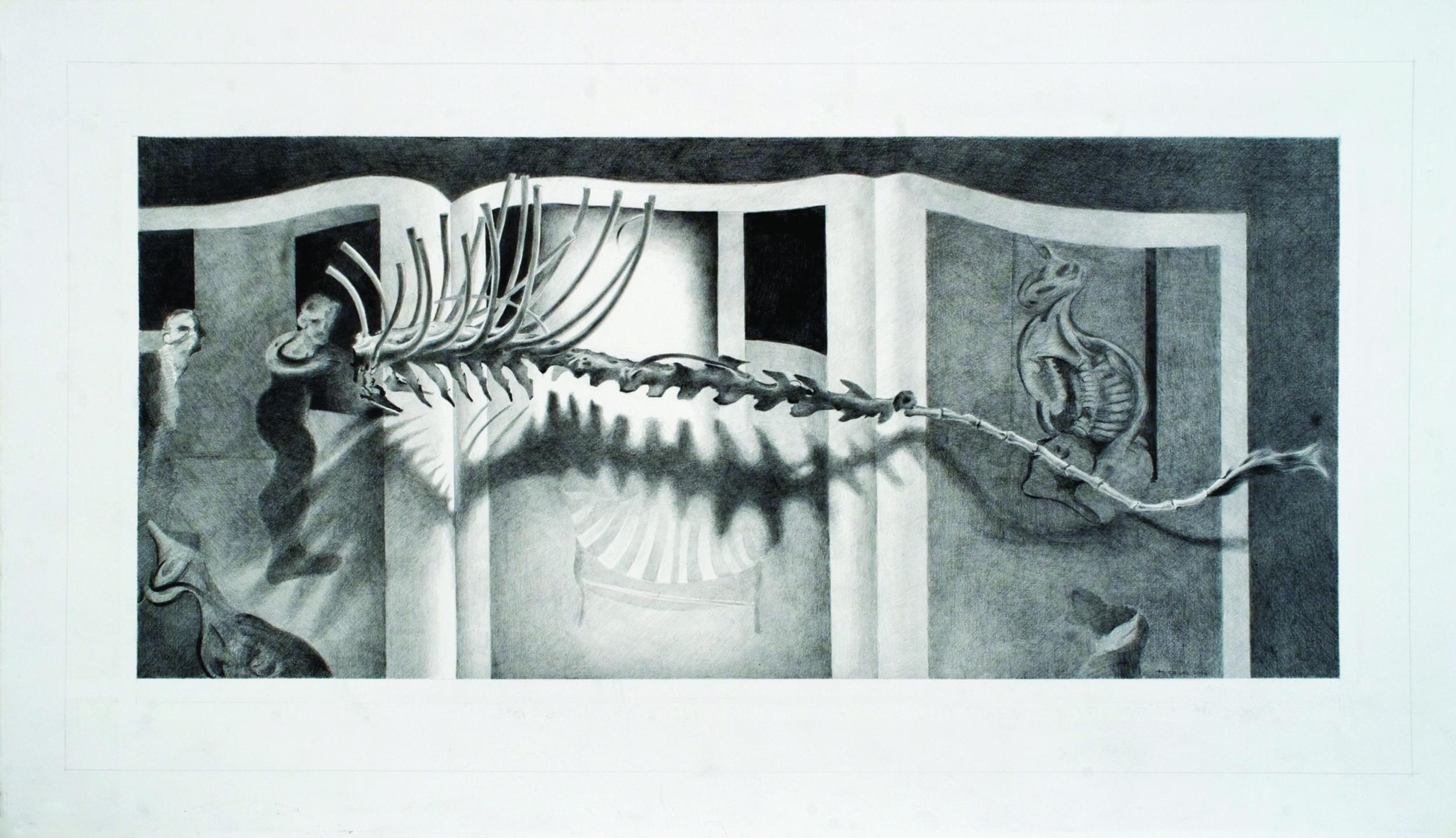 "Em-bark-bodi-ment- Augustine  Fernando Casas CA313 Graphite on Paper 22"" x 34"""
