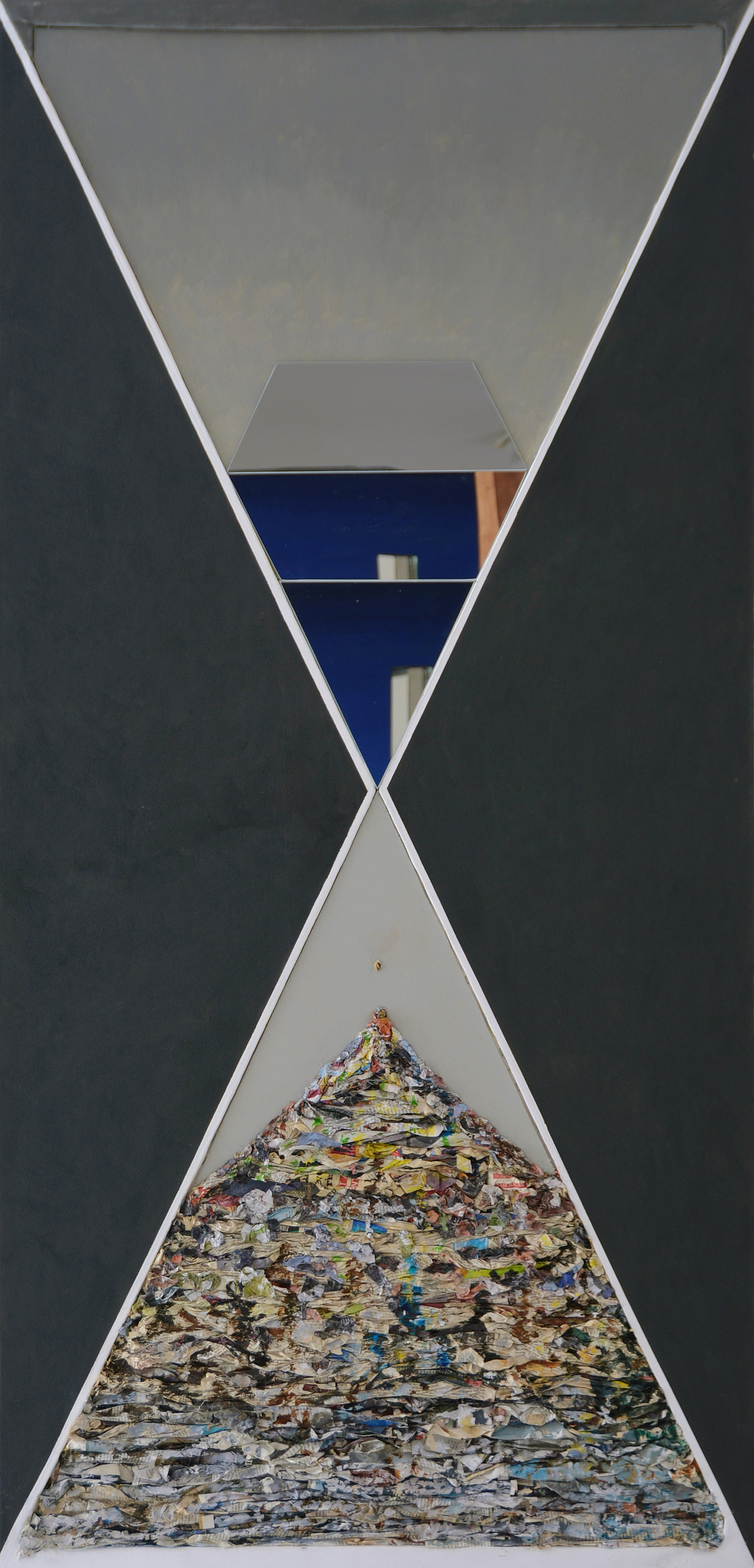 "Hourglass  Fernando Casas CA343 Mixed Media 76"" x 36"""