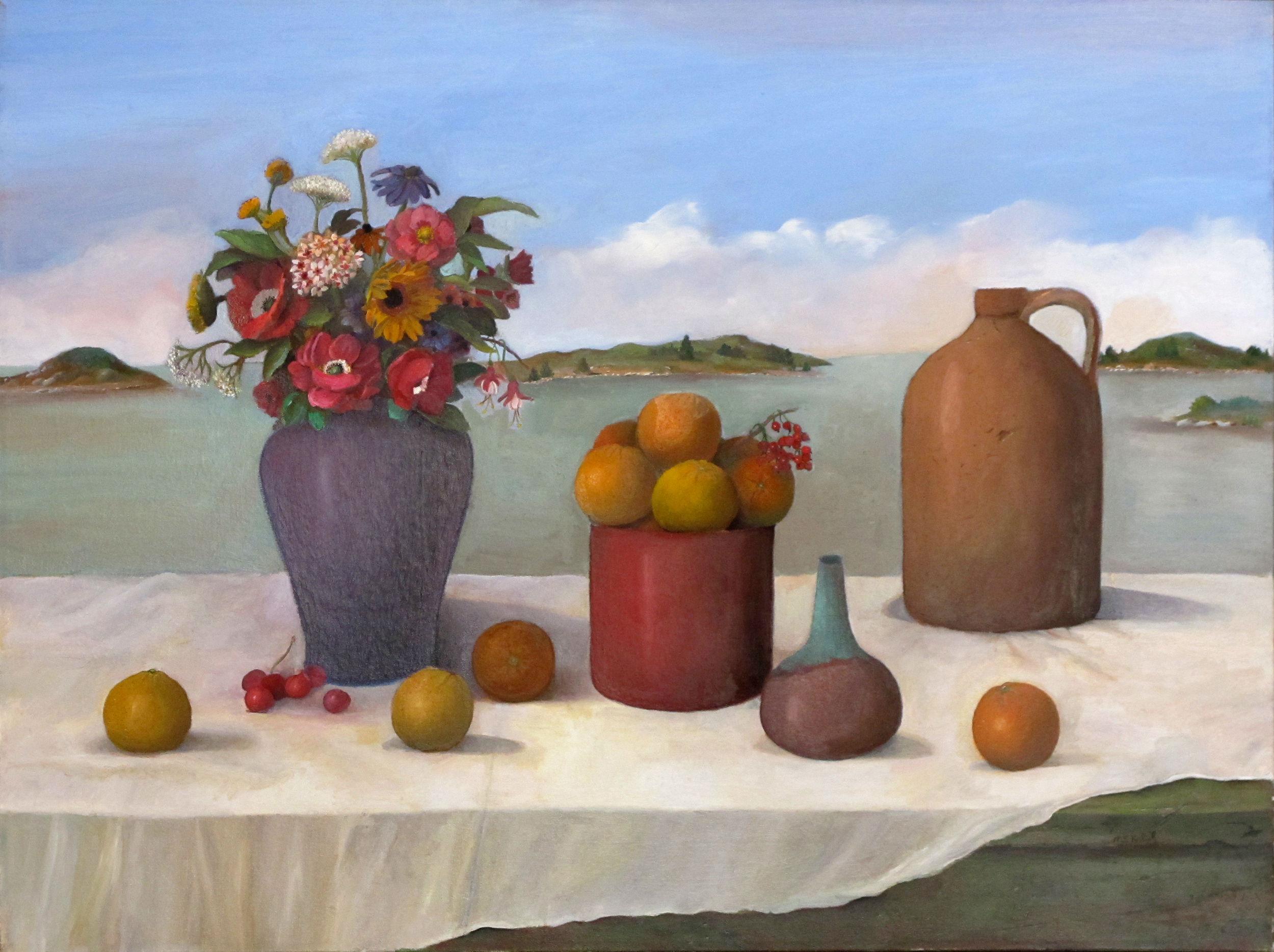 """Afternoon in Venice  Muriel Kalish MK126 Oil on Canvas 30"""" x 40"""""""