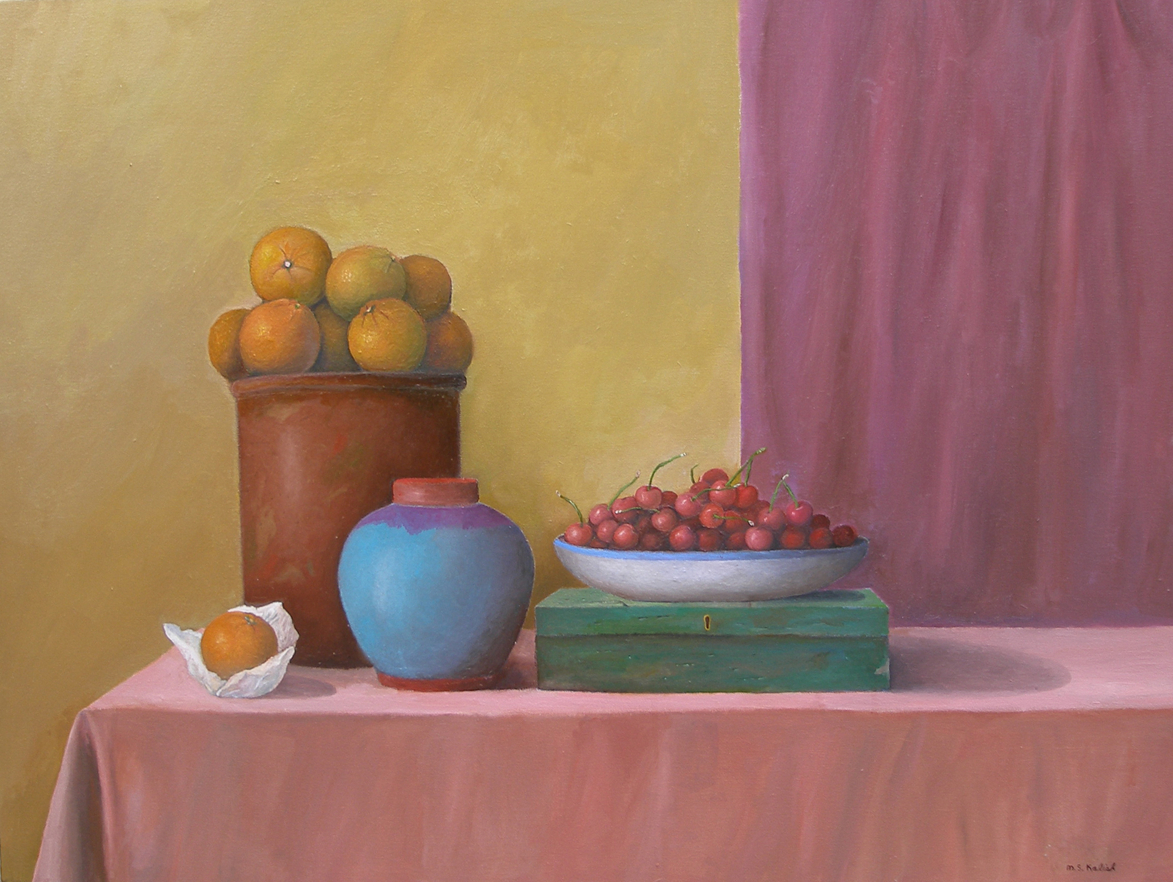 """New York Still Life Number One  Muriel Kalish MK145 Oil on Canvas 30"""" x 40"""""""