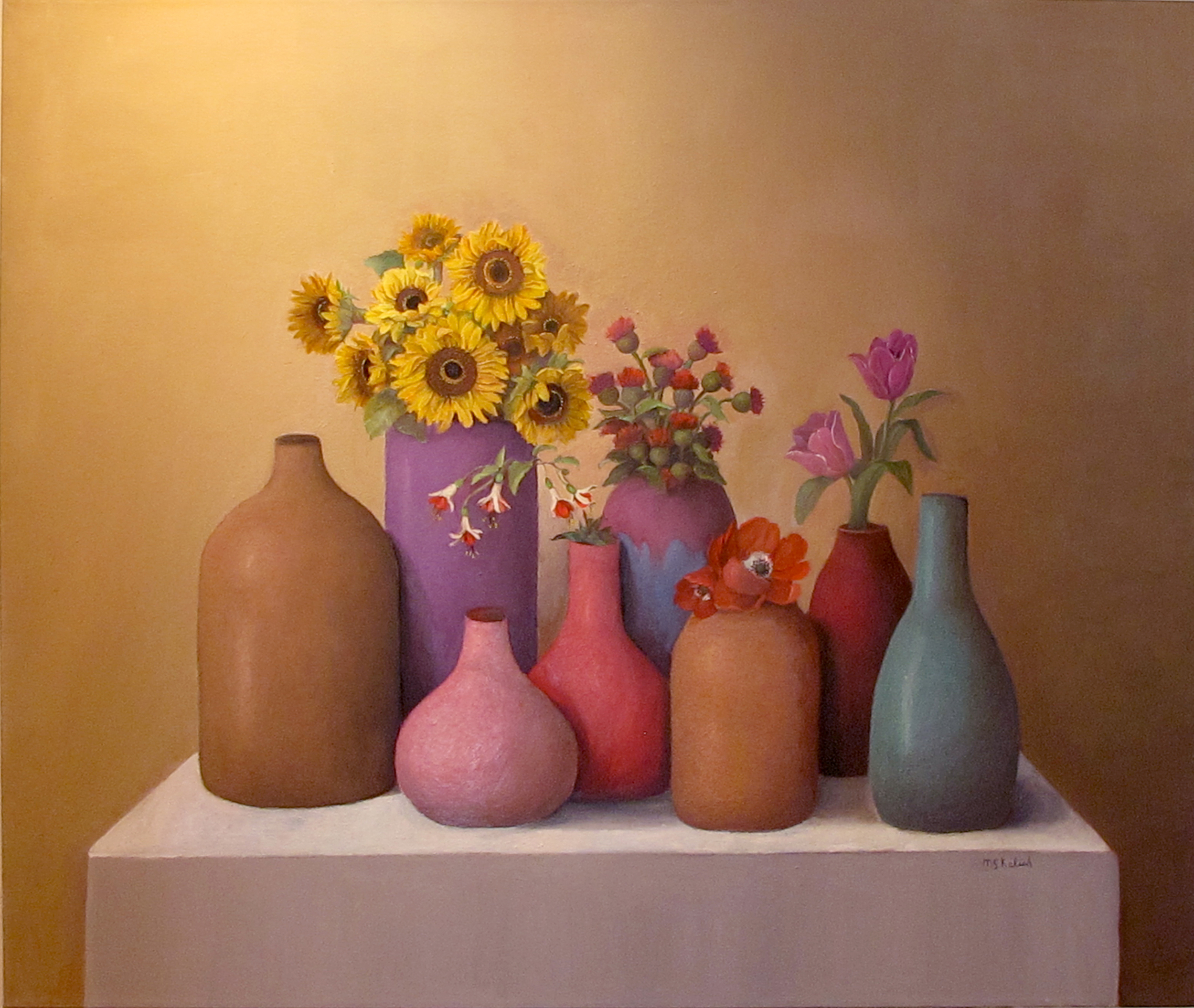 """Sandy Painting #2  Muriel Kalish MK151 Oil on Canvas 30"""" x 36"""""""