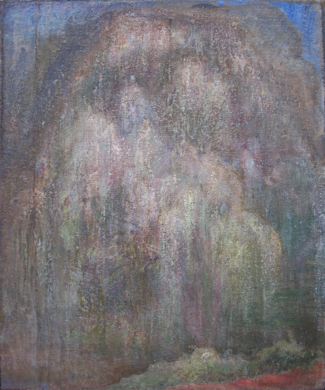 """Willow  Eric Holzman HZ132 Mixed Media on Canvas 14"""" x 18"""""""