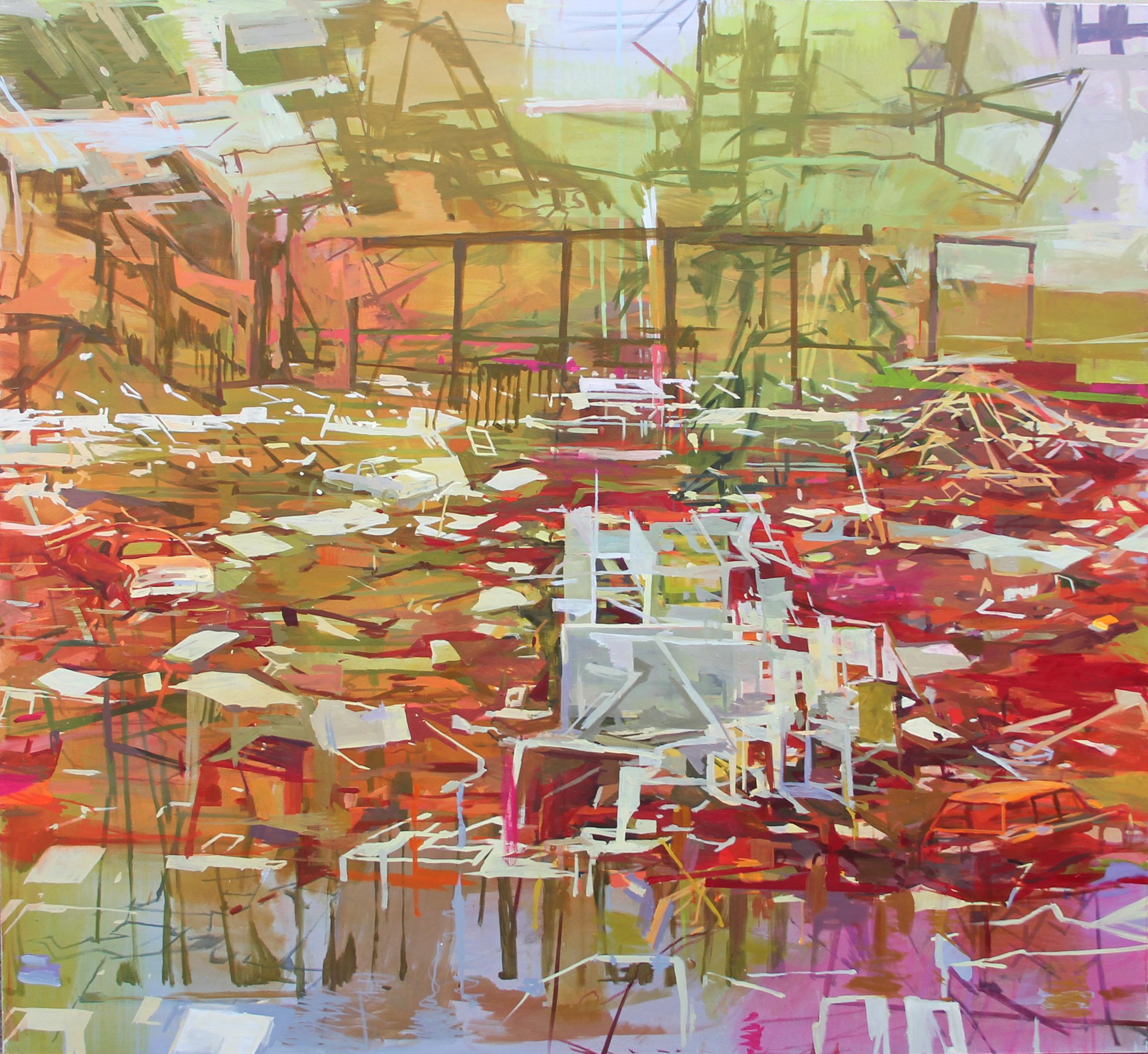 "Arena  Marie Thibeault LT172 Oil on Canvas 71"" x 77"""