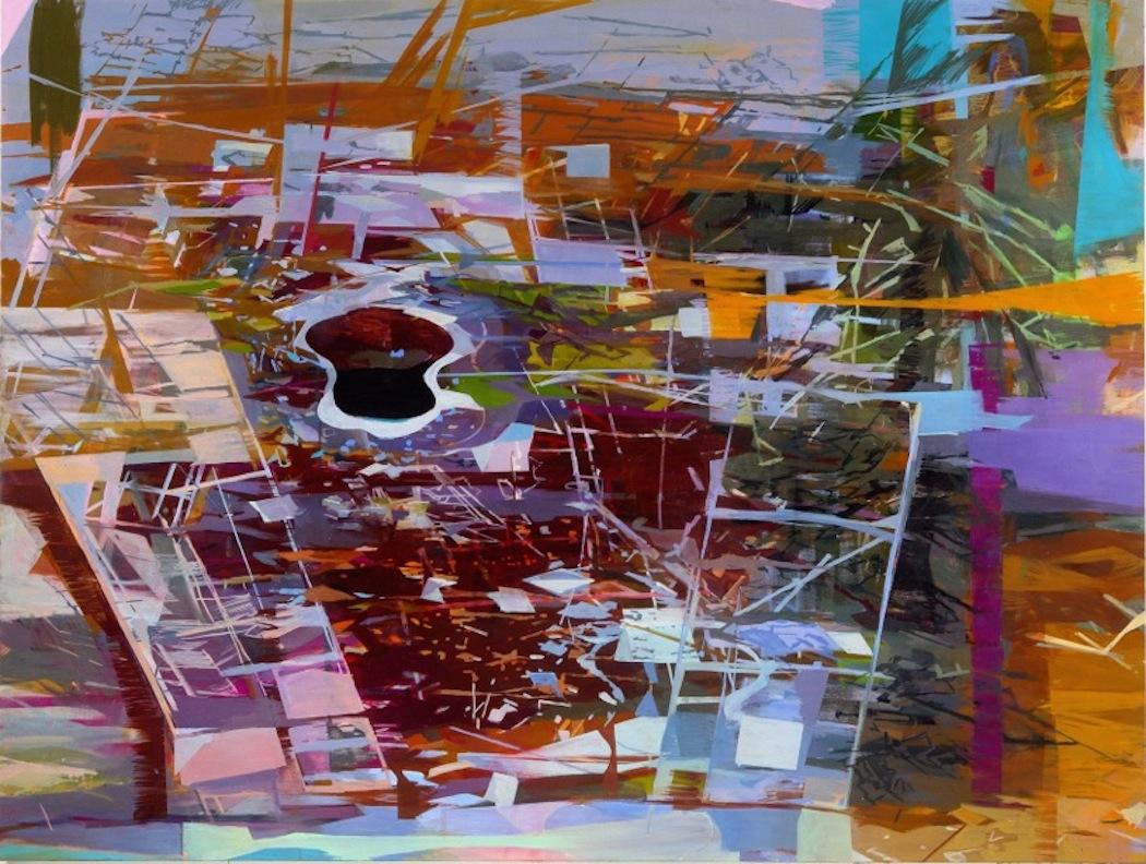 """Breach  Marie Thibeault LT176 Oil on Canvas 74"""" x 90"""""""