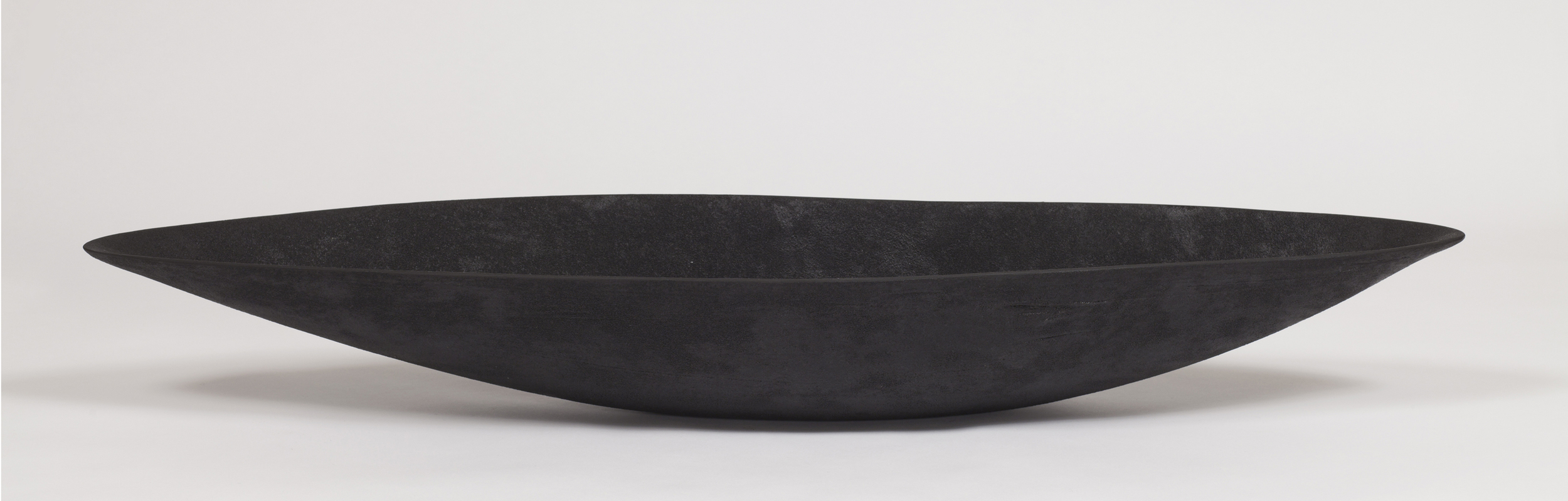 "Black Pod With White  Kathy Erteman ET134 Ceramic 5"" x 37"" x10"""