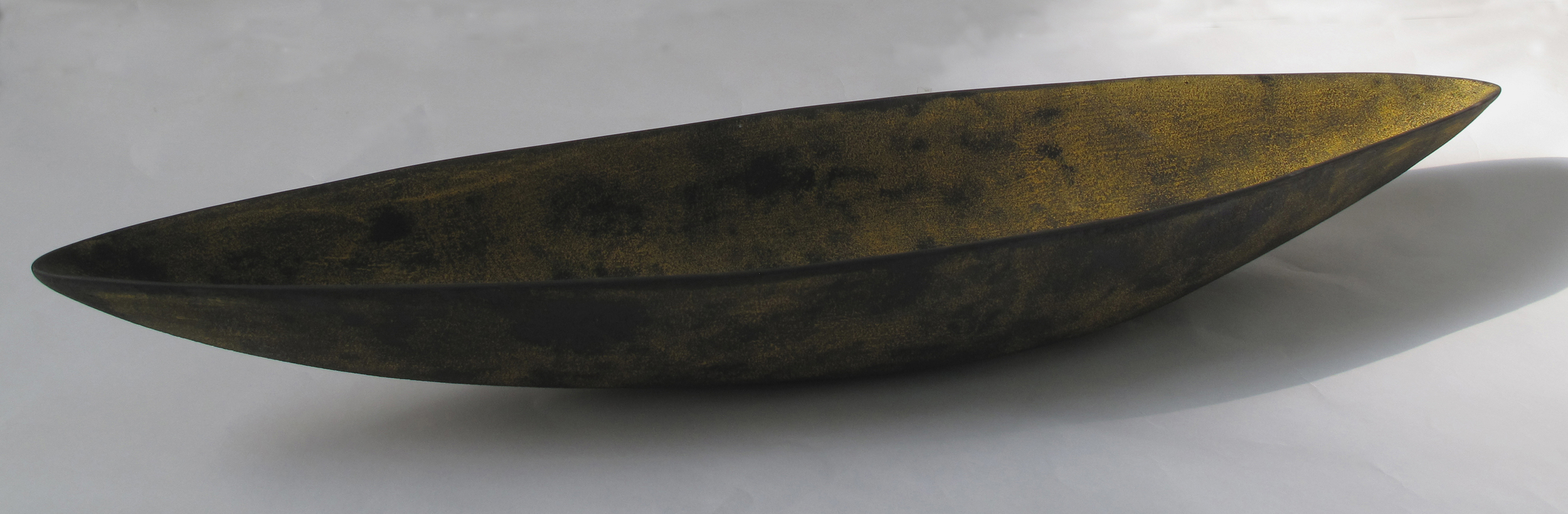"Rust Pod  Kathy Erteman ET141 Ceramic Vessel 3"" x 37"" x 10"""