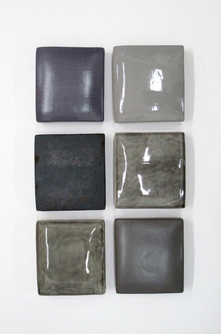 """Kathy Erteman Ceramic Texture Square 4"""" x 4"""" (Individual)"""