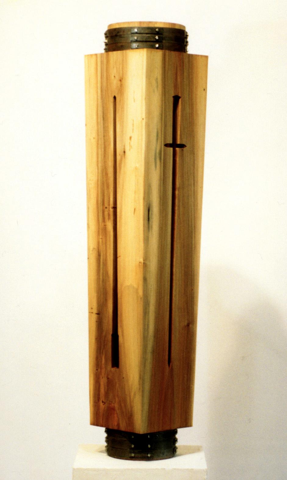 """Objects of Ritual Series VI  Roger Foster FS123 Polar, Mild Steel 54"""" x 11"""" x 11"""""""