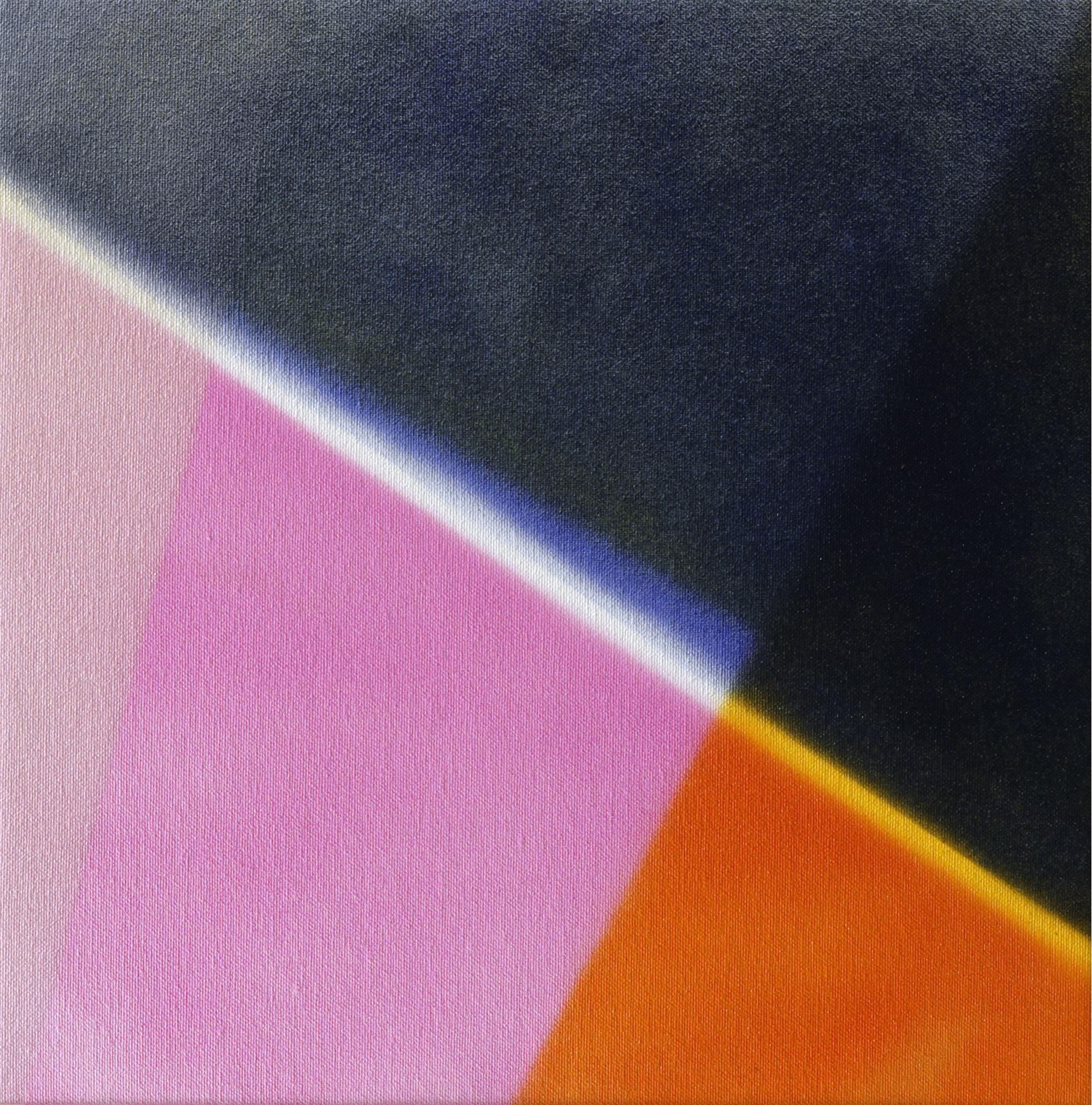 """Untitled  Thomas Zitzwitz ZW146 Acrylic on Canvas 13"""" x 13"""""""