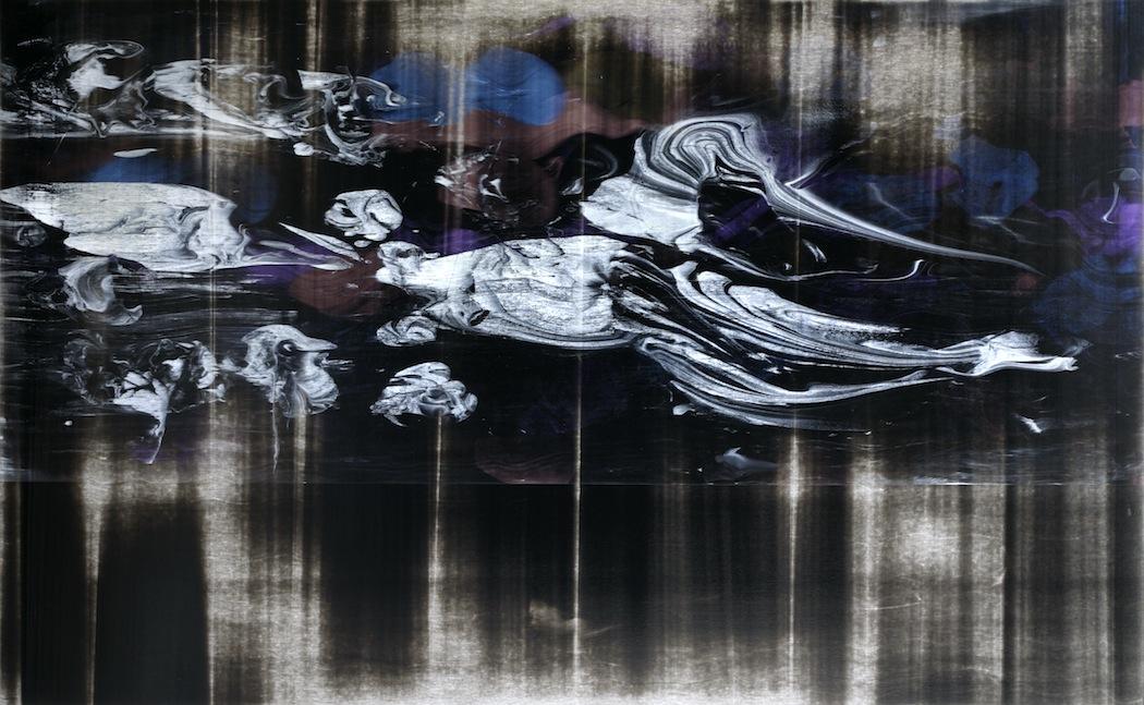 """Untitled  Thomas Zitzwitz ZW148 Acrylic on Canvas 46"""" x 75"""""""