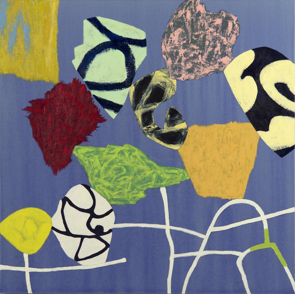 "Modern Dance/6  Jerrold Burchman BU284 Acrylic on Canvas 36"" x 36"""