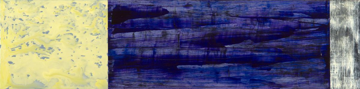 """Night and Day/3  Jerrold Burchman BU285 Acrylic on Wood Panel 15"""" x 60"""""""