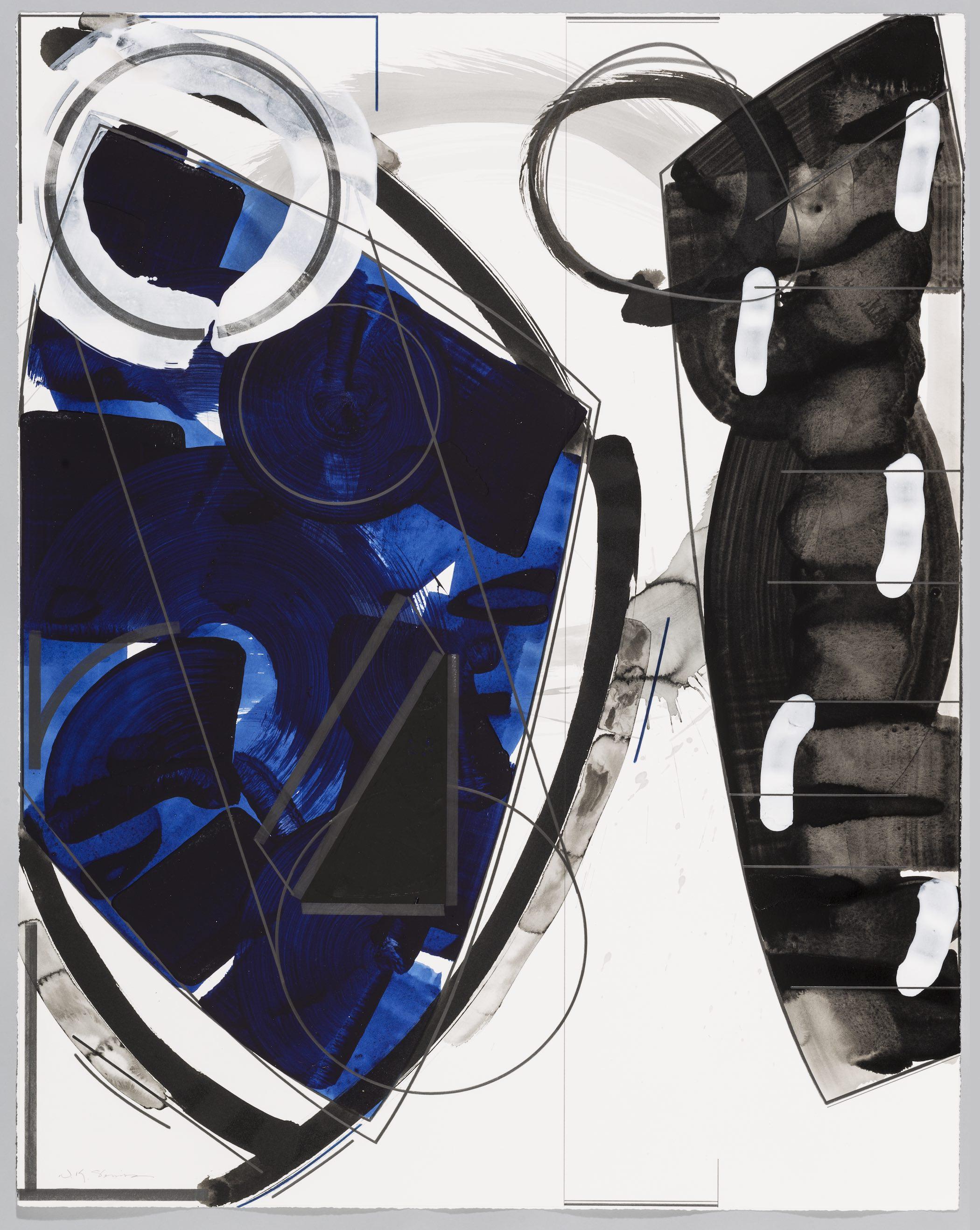 "Untitled  Doug Semivan SE282 Acrylic on Paper 47"" x 37"""