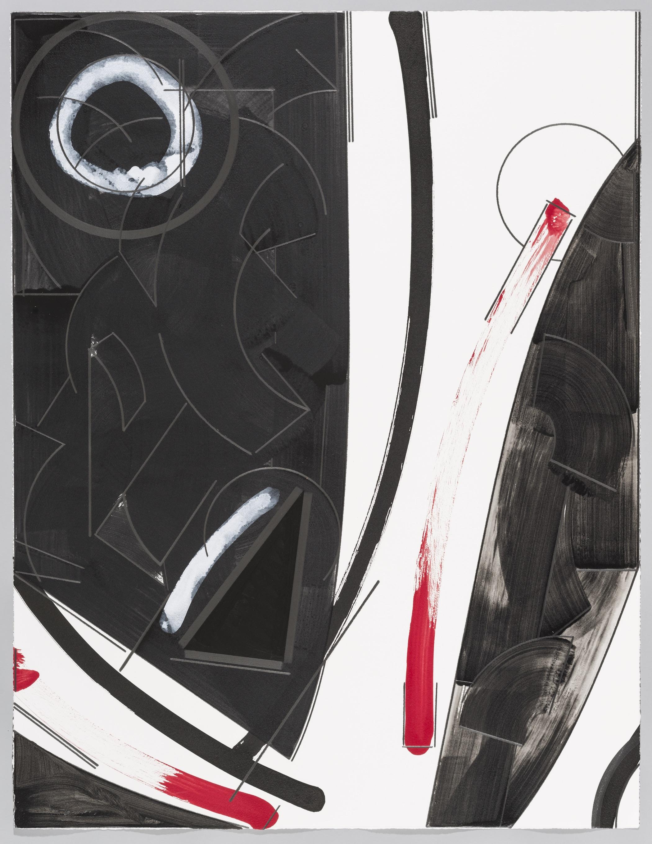 "Floating in Moonlight  Doug Semivan SE281 Acrylic on Paper 47"" x 37"""