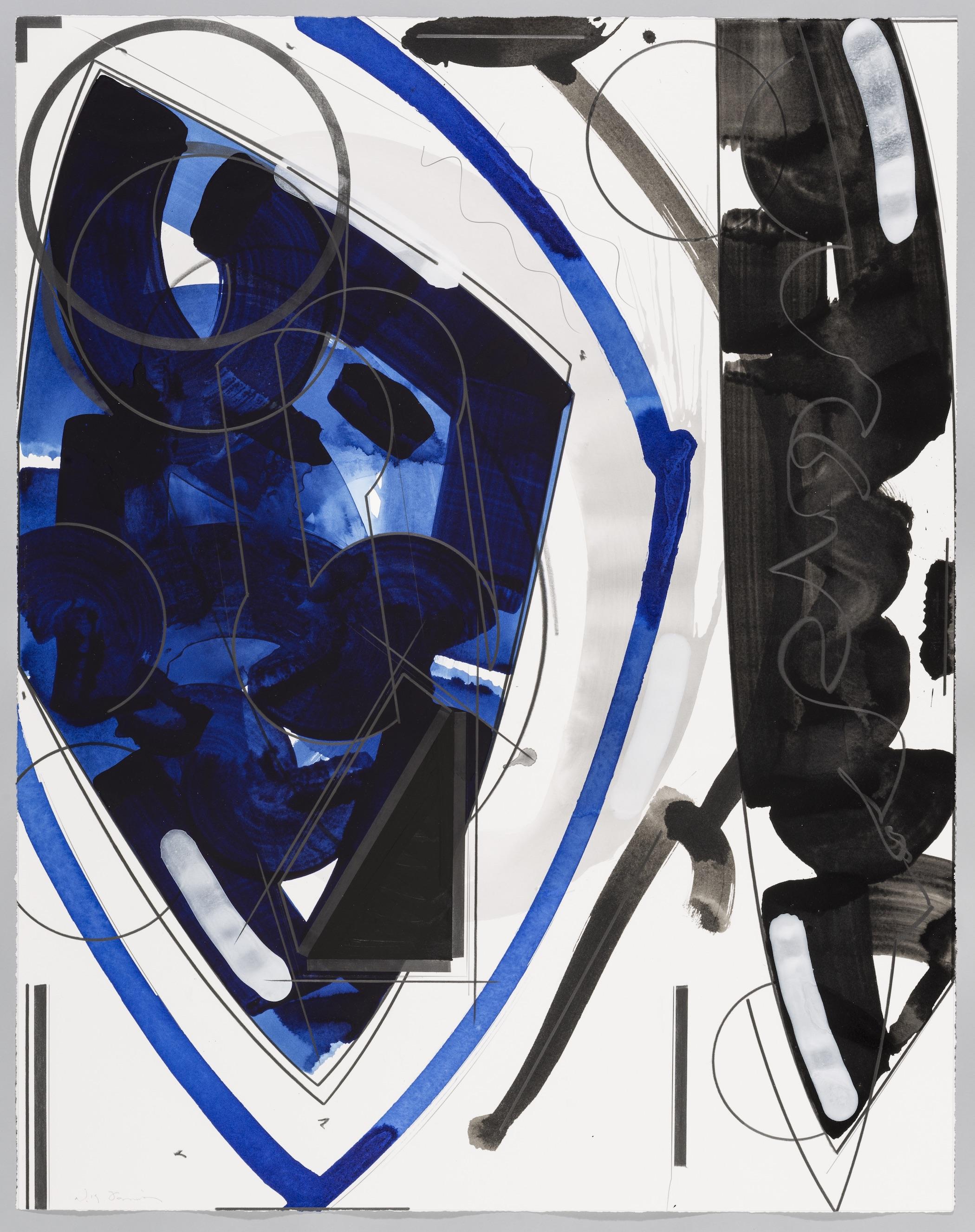 "Edge of Dusk  Doug Semivan SE280 Acrylic on Paper 47"" x 37"""