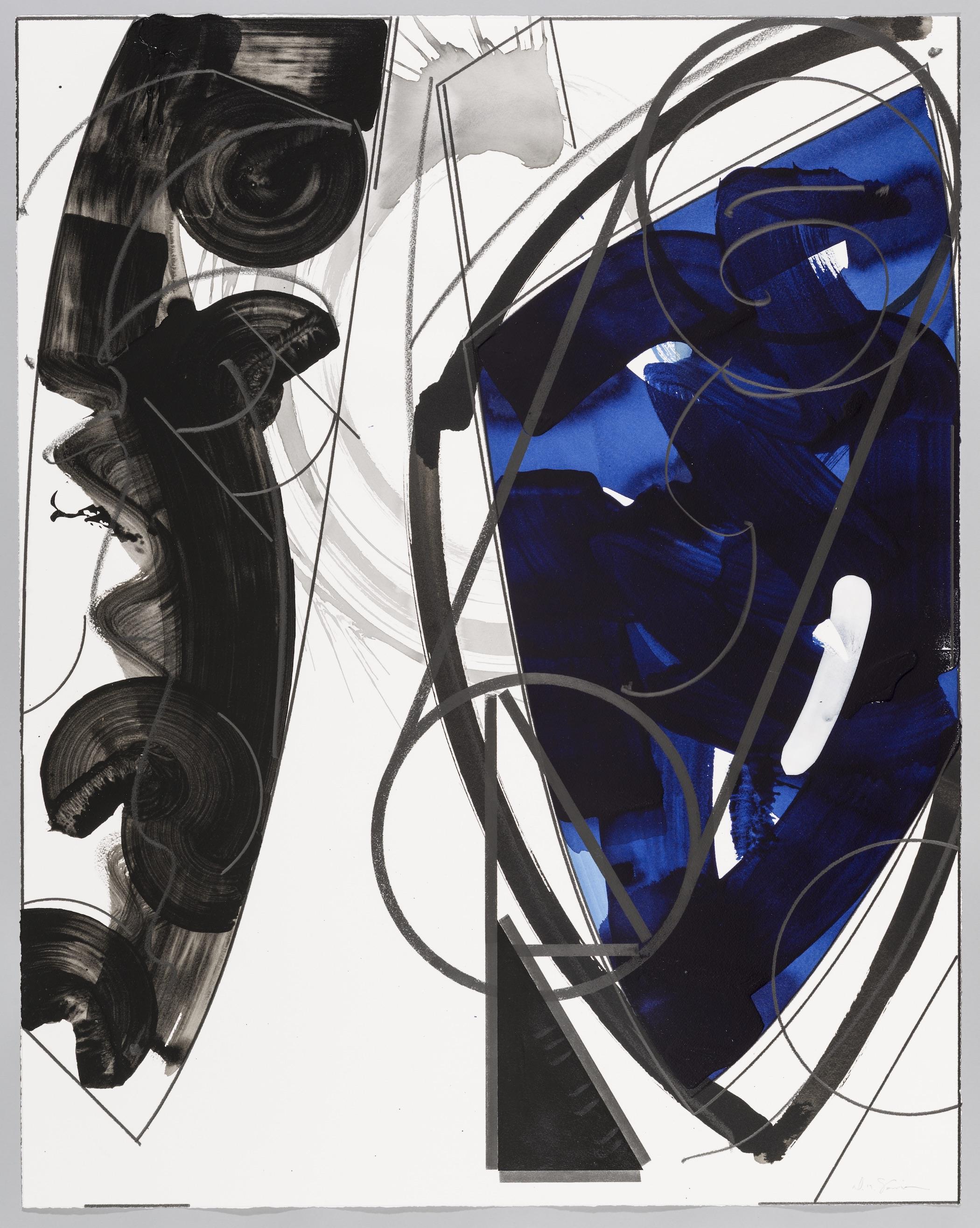 "How Long is a Moment  Doug Semivan SE279 Acrylic on Paper 47"" x 37"""