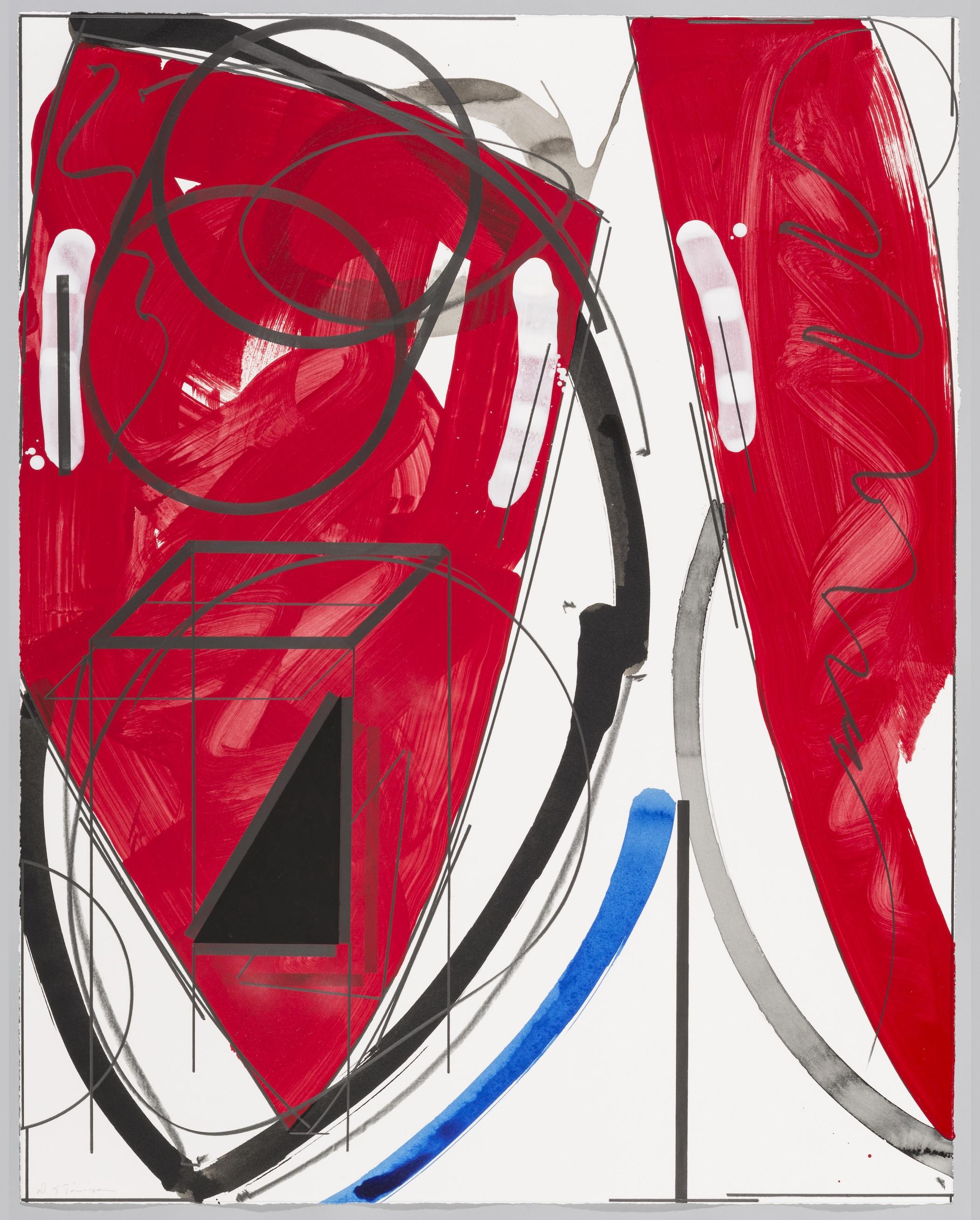 "Untitled  Doug Semivan SE278 Acrylic on Paper 47"" x 37"""