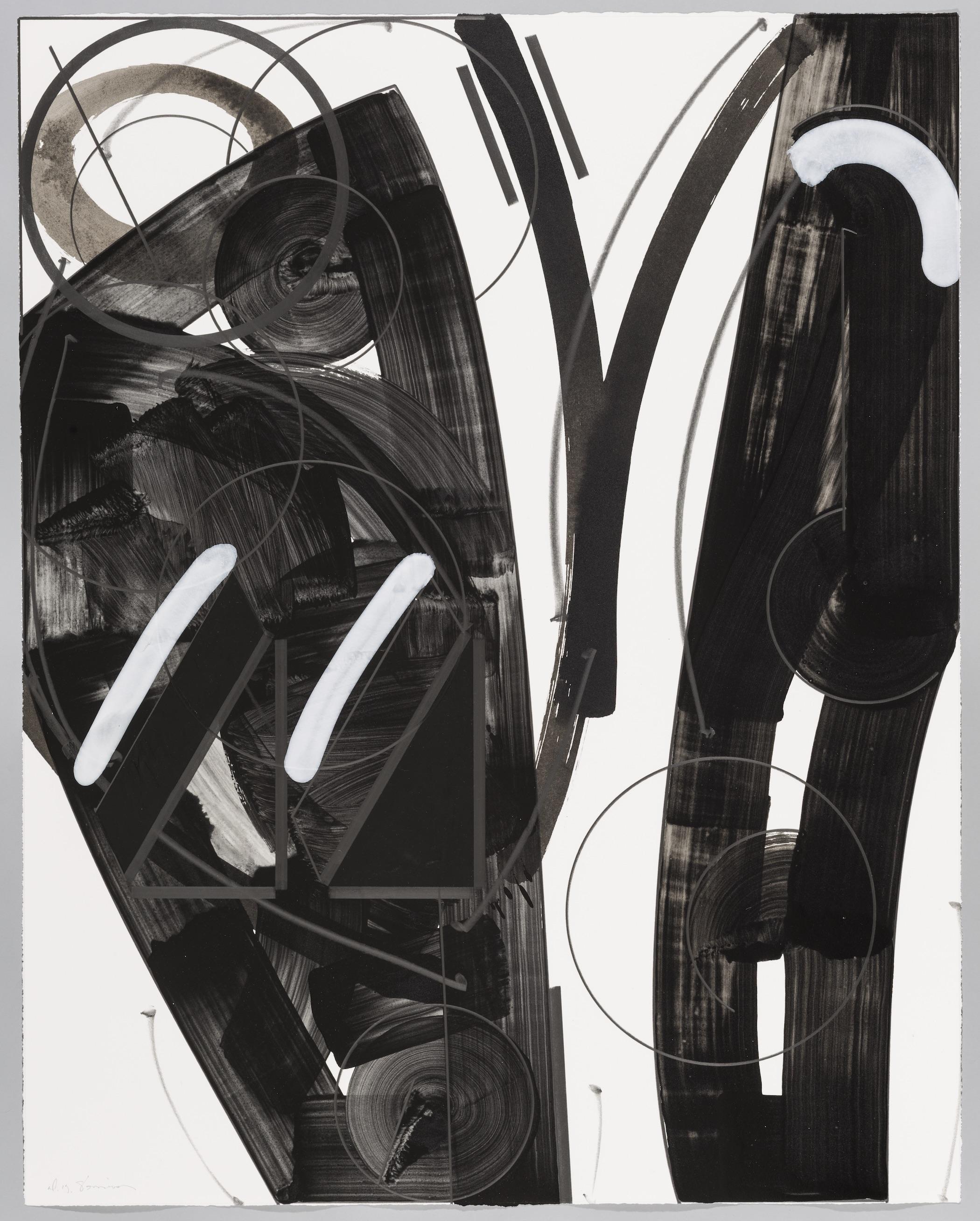 "Seven Colors of the Moon  Doug Semivan SE277 Acrylic on Paper 47"" x 37"""
