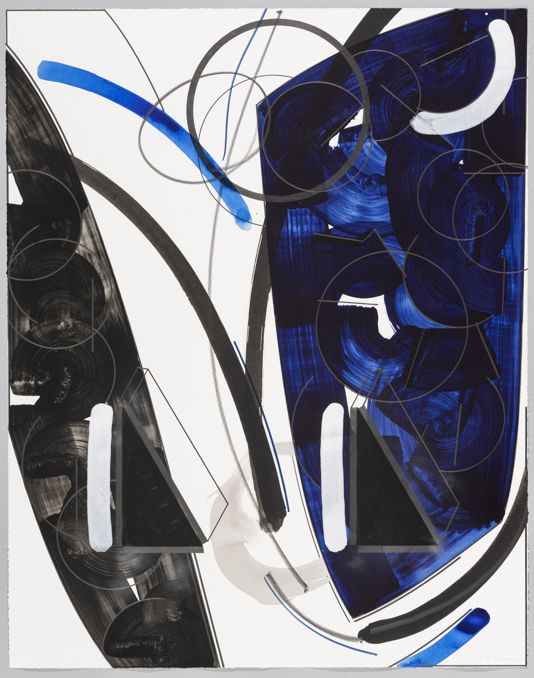 "The Sense of Ghost Upon the Water  Doug Semivan SE276 Acrylic on Paper 47"" x 37"""