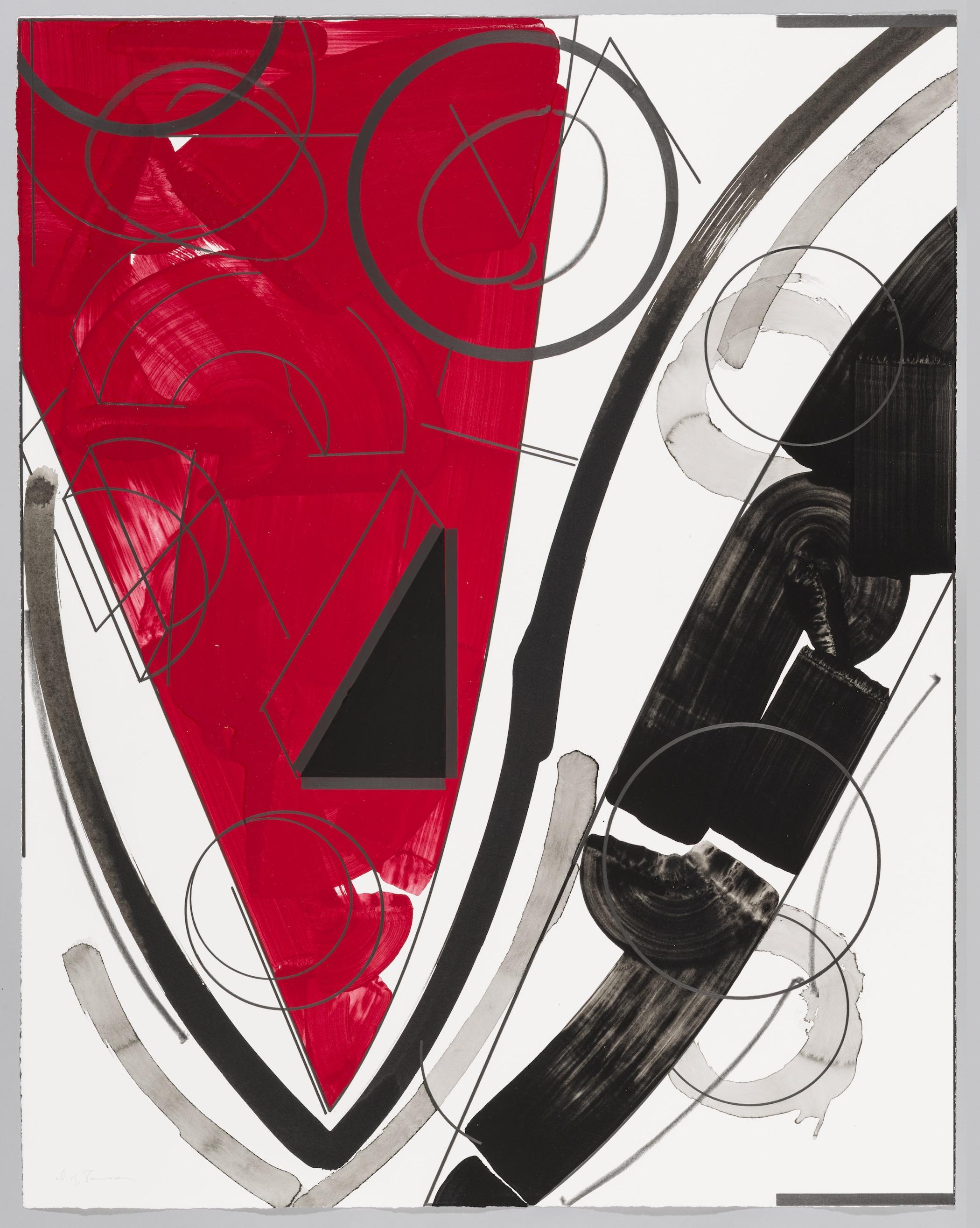 """Seeing things (Ocean)  Doug Semivan SE275 Acrylic on Paper 47"""" x 37"""""""