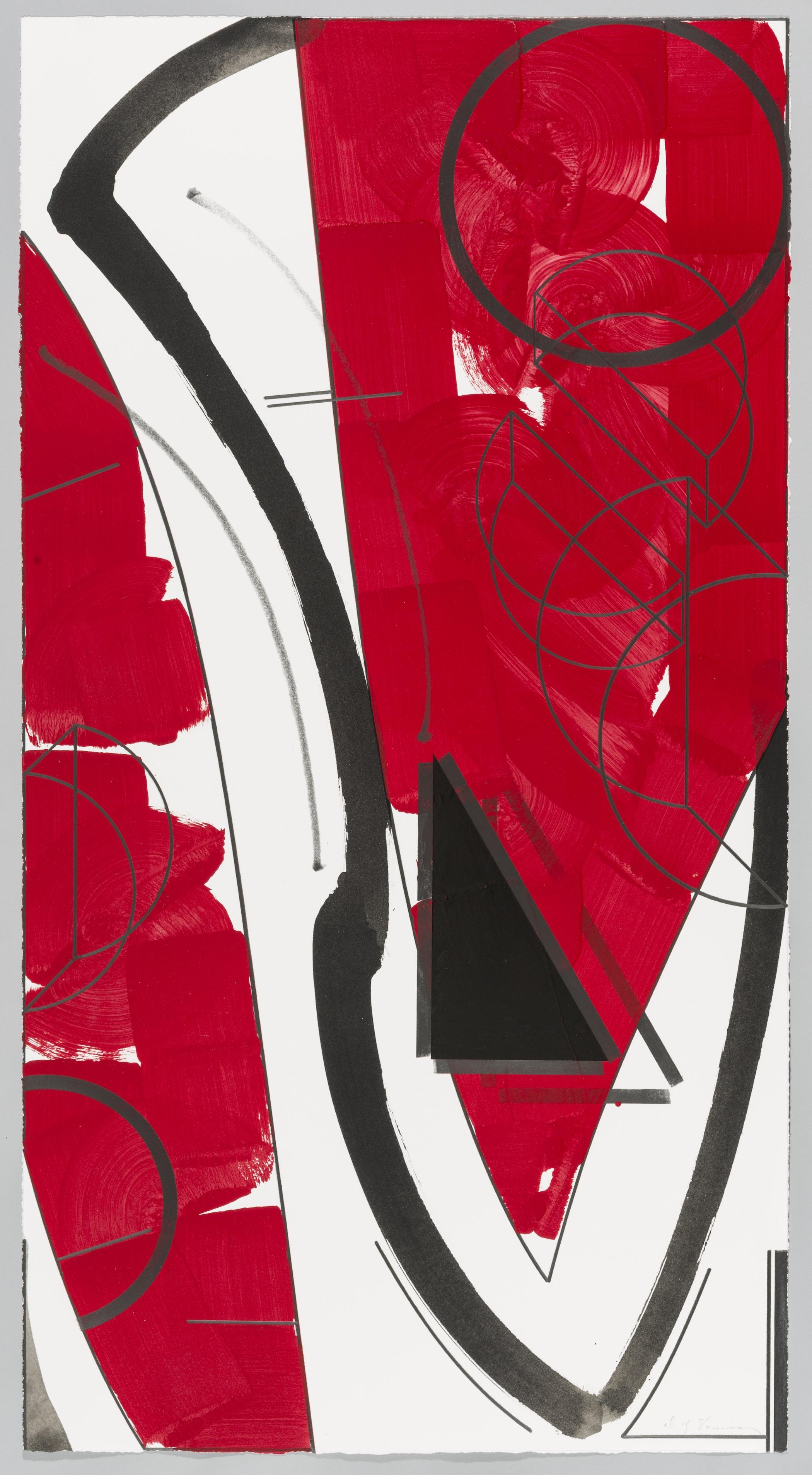 """Seeingthings II (Ocean)  Doug Semivan SE274 Acrylic on Paper 47"""" x 25"""""""
