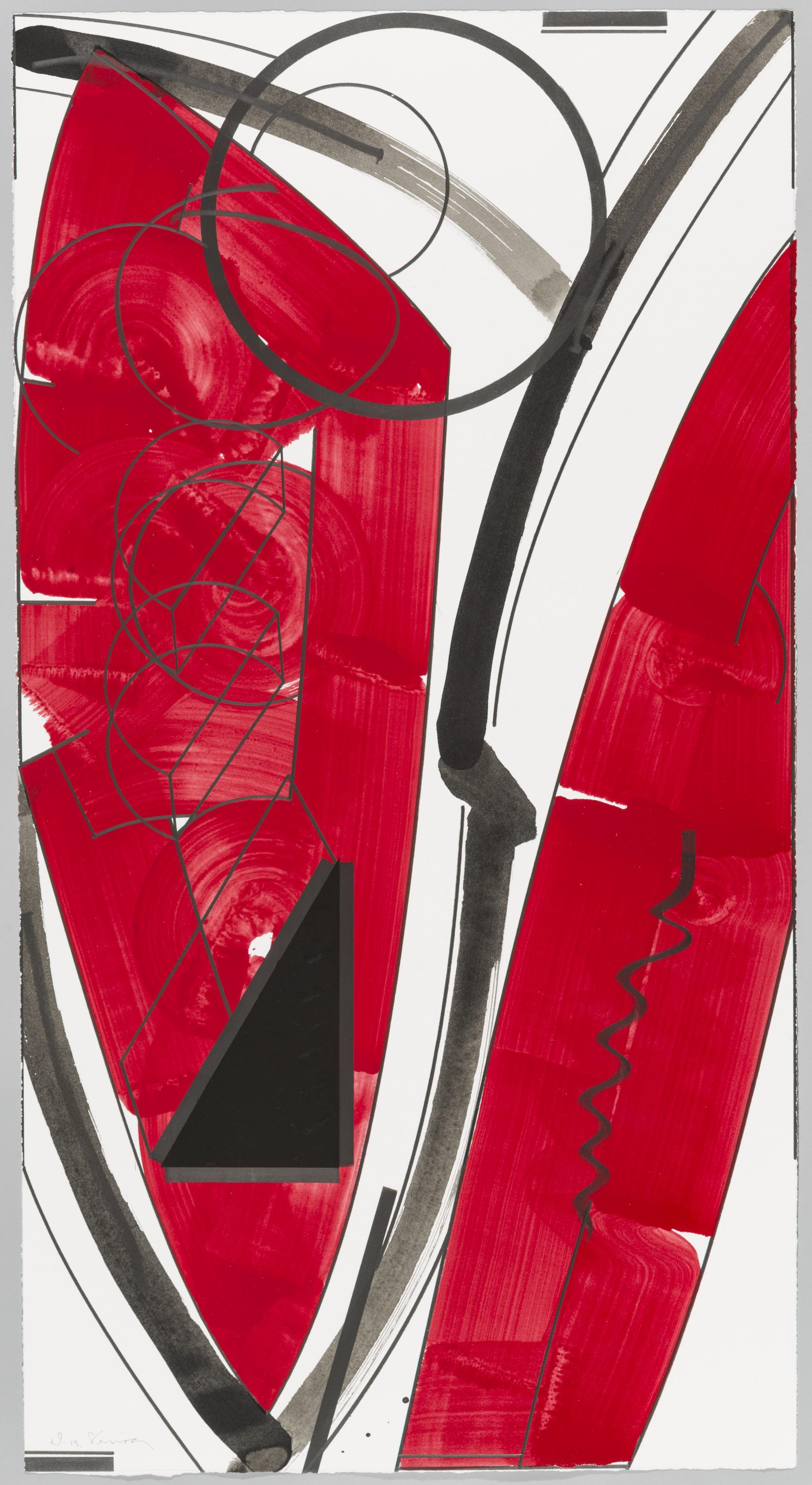 """Fullmoon (Daylight)  Doug Semivan SE273 Acrylic on Paper 47"""" x 25"""""""