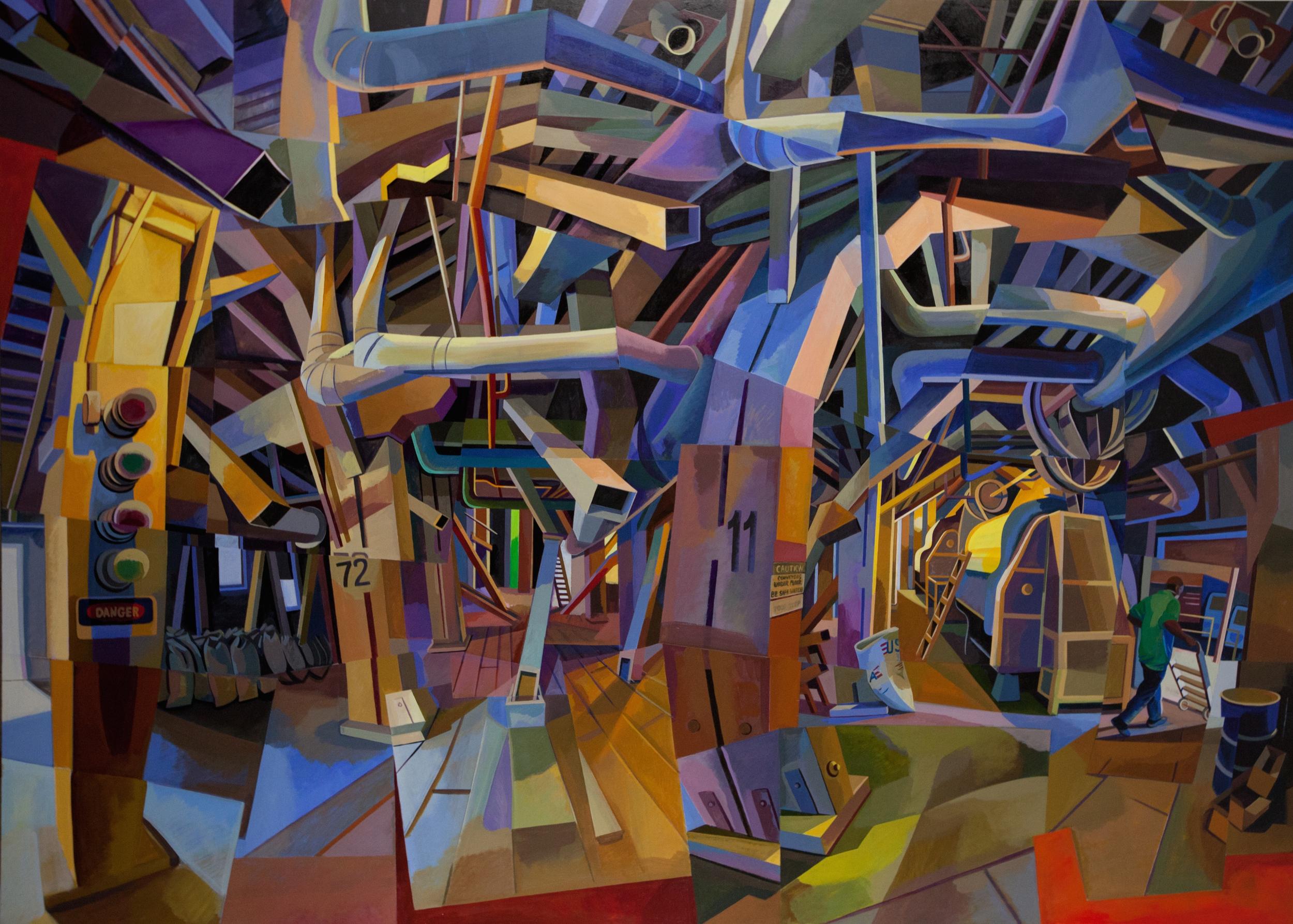 "Mill 15, Acrylic on Canvas, 60"" x 72"""