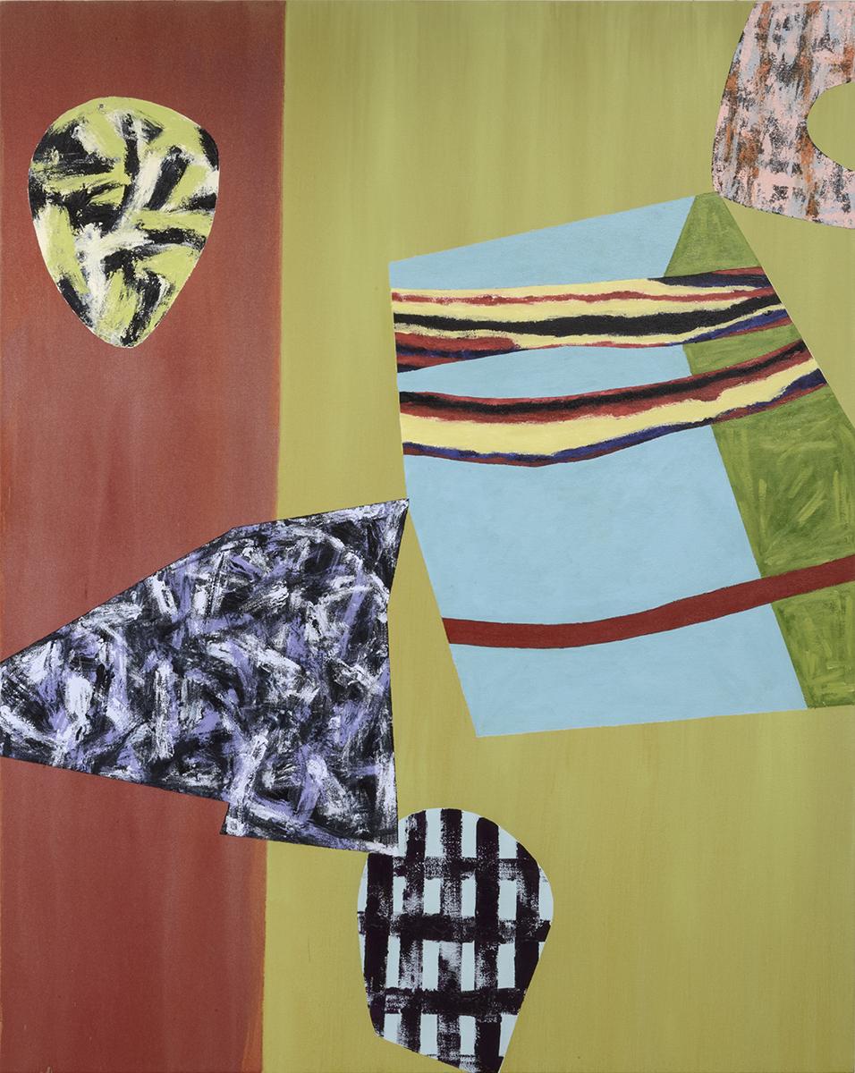 "Modern Dance / 14   Jerrold Burchman  BU288  Acrylic on Canvas  60"" x 48"""