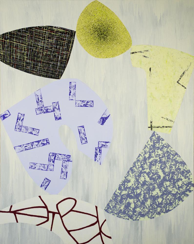 "Balancing Act/5   Jerrold Burchman  BU291  Acrylic on Canvas  60"" x 48"""