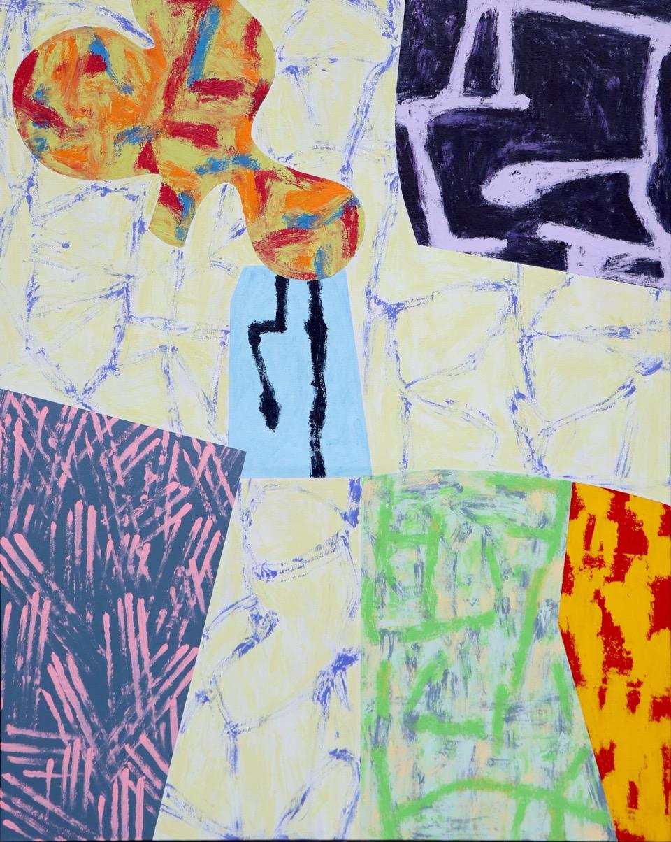 "Modern Dance / 12   Jerrold Burchman  BU287  Acrylic on Canvas  24"" x 48"""