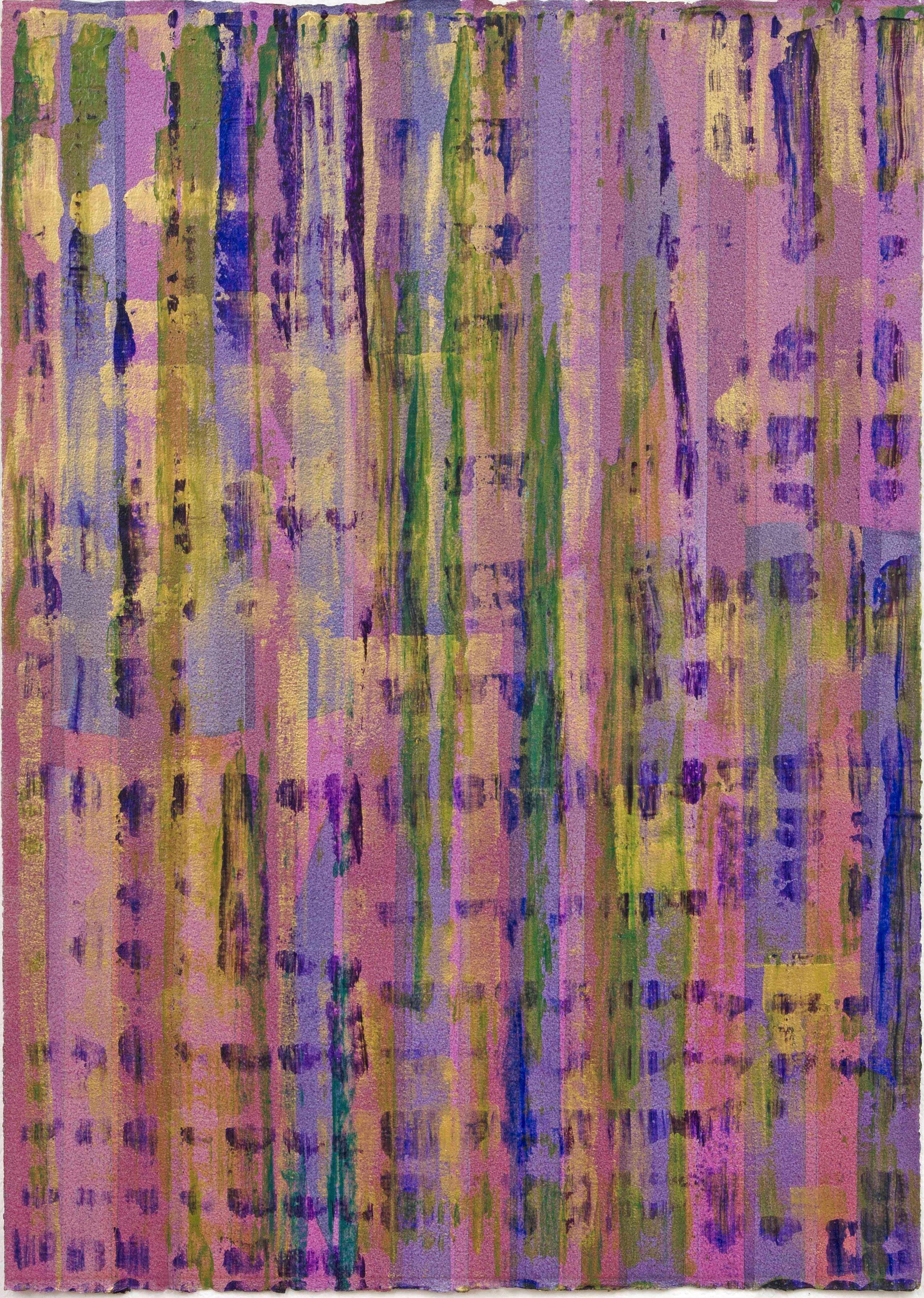 "Liminal Spaces 122 Elizabeth Chandler EC1101 Acrylic on Paper 40"" x 30"""
