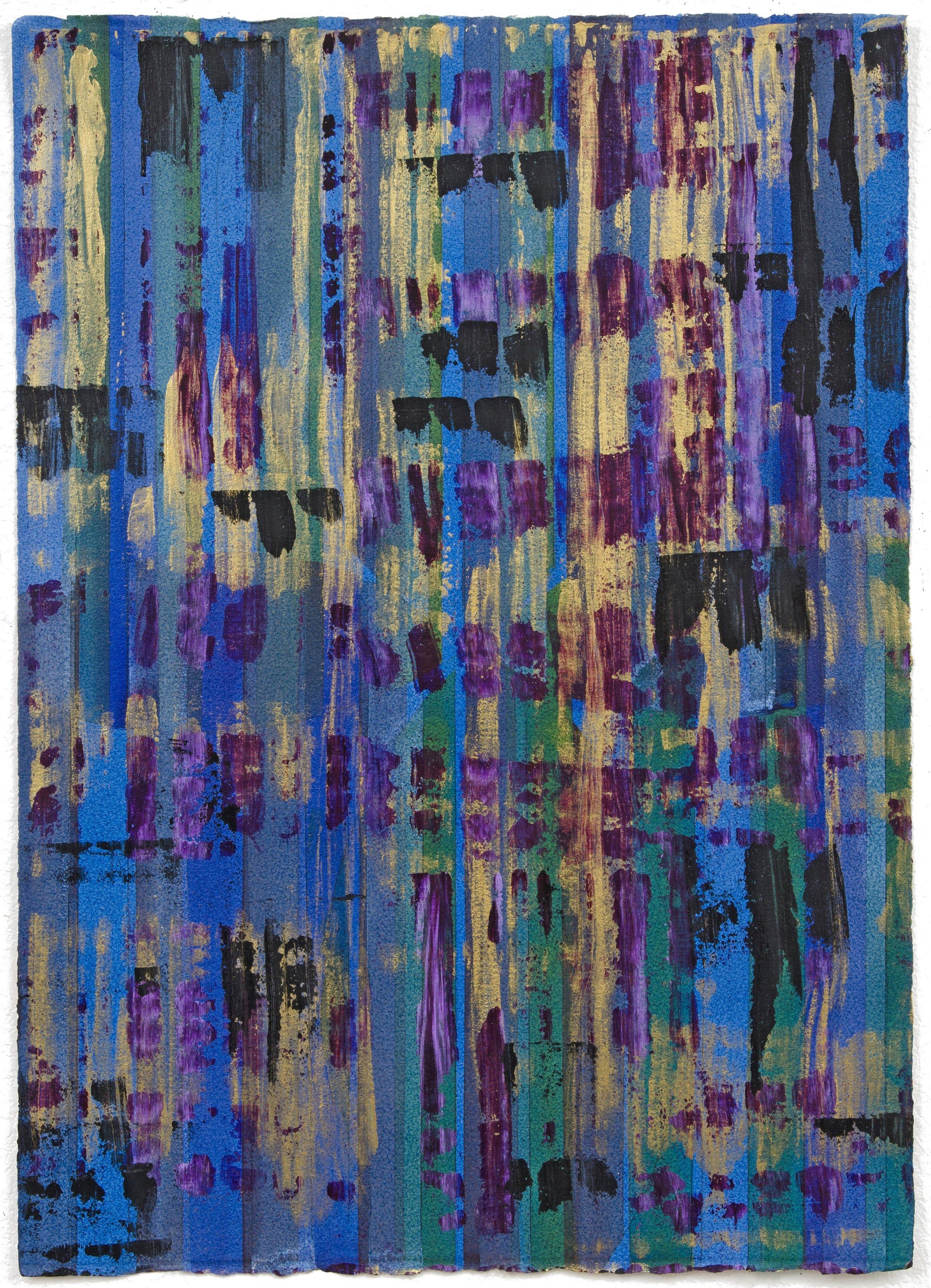 "Liminal Spaces 123 Elizabeth Chandler EC1104 Acrylic on Paper 40"" x 30"""