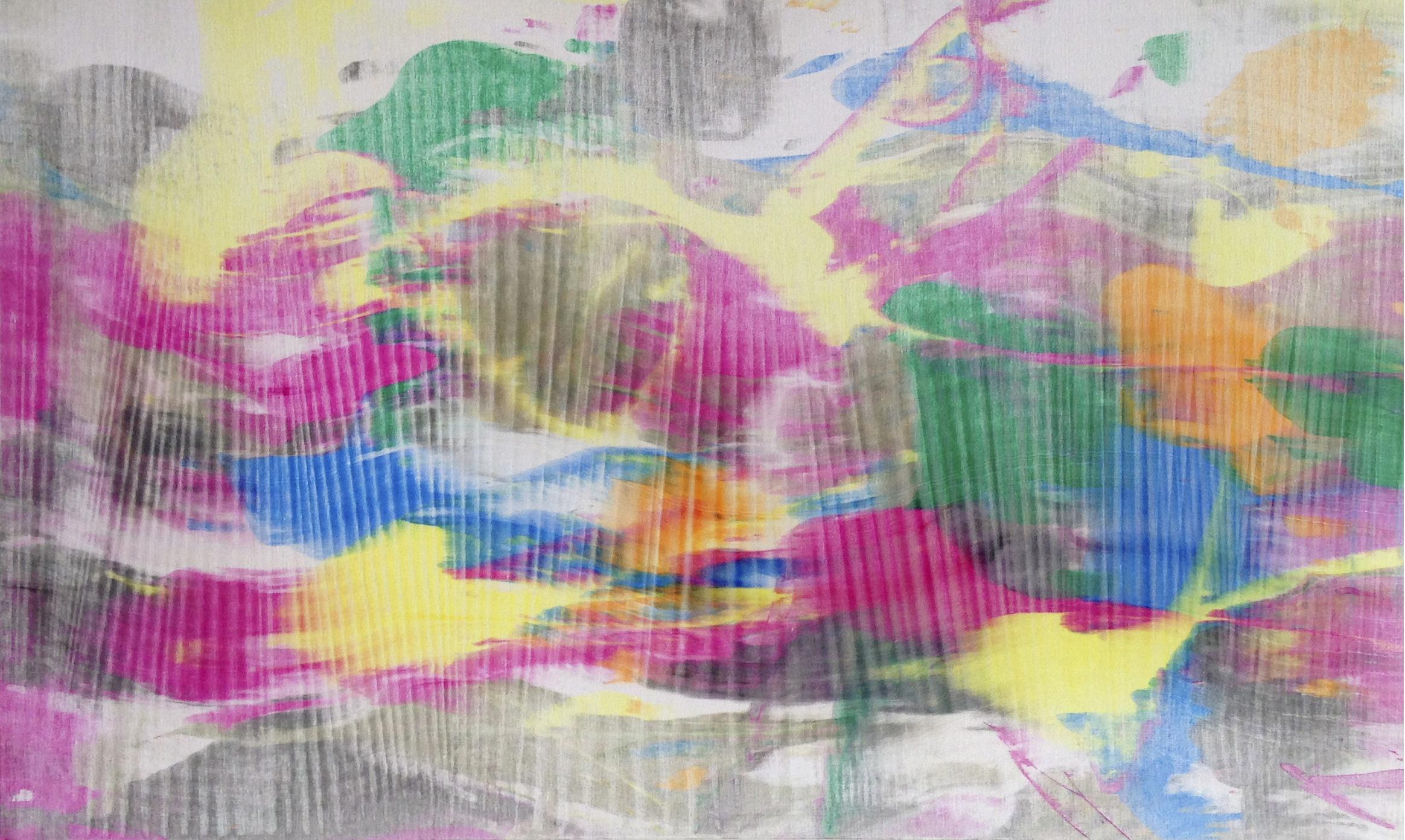 """Untitled  Thomas Zitzwitz ZW175 Acrylic on Canvas 19"""" x 32"""""""