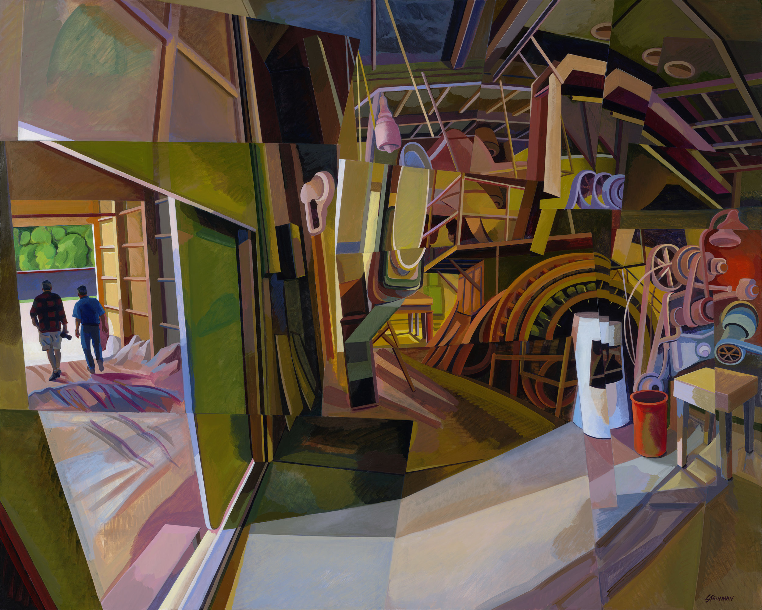 "Mill 4  Joan Steinman ST963 Acrylic on Canvas 48"" x 60"""