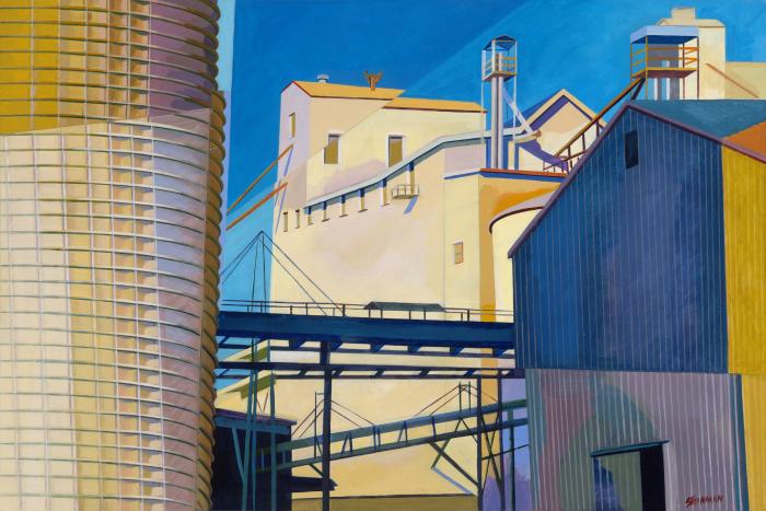 "Mill 8  Joan Steinman ST967 Acrylic on Canvas 24"" x 36"""