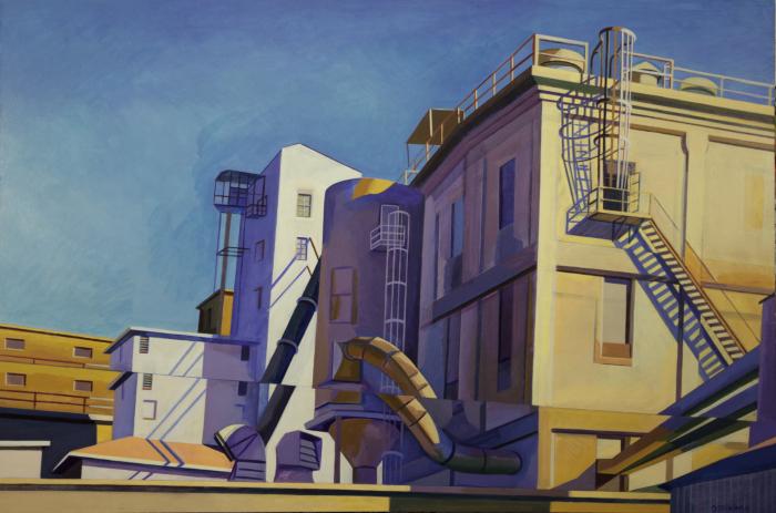 "Mill 9  Joan Steinman ST968 Acrylic on Canvas 24"" x 30"""