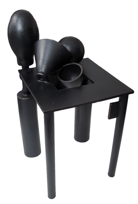 """Table Piece (above and below)  Stephen Daly SD143 Antique Black Patina on Cast Bronze 15"""" x 11"""" x 11"""""""