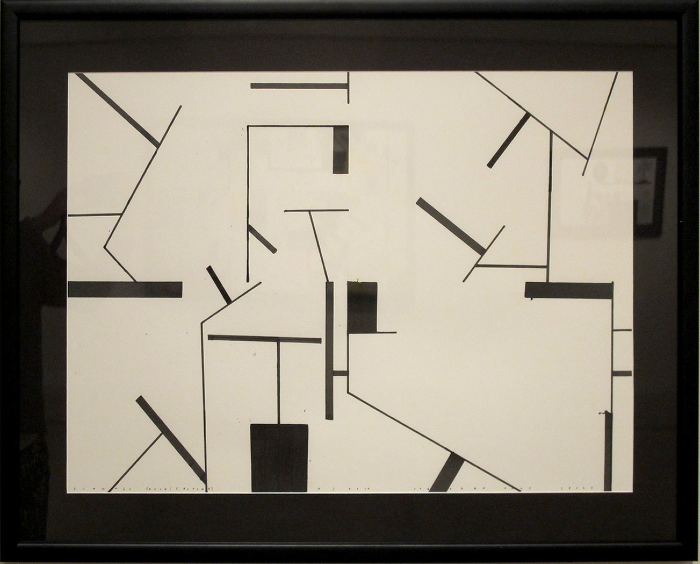 """Signals (architecture)  Stephen Daly SD140 Ink on Paper 22"""" x 30"""""""