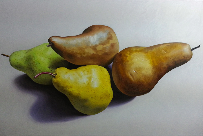 "Pears III  Fernando Casas CA355 Oil on Canvas 49"" x 72"""