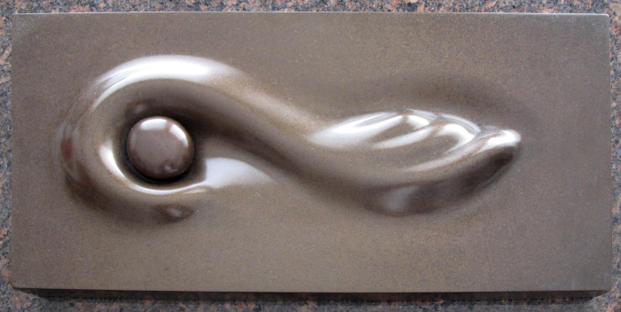 "Beach Pebble  Jack Zajac JZ115 Bronze with Brown Patina 1.5"" x 18.75"" x 9"""