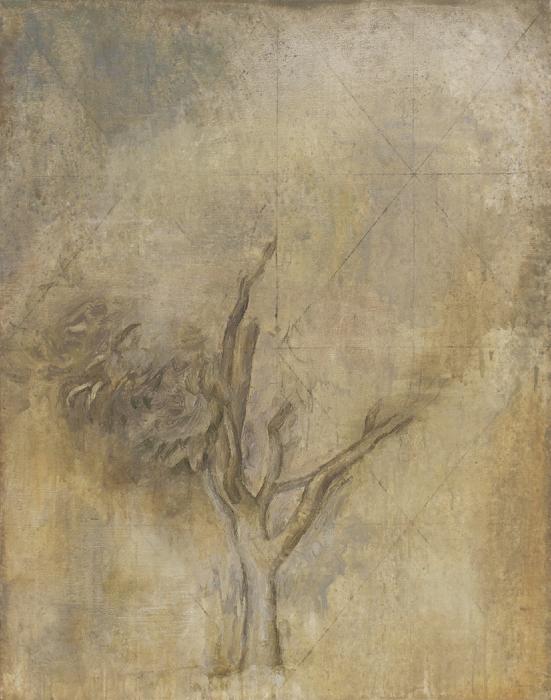 "Dogwood Tree II  Eric Holzman HZ193 Oil on Canvas 45"" x 35"""