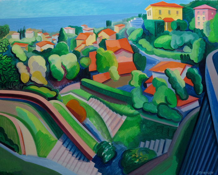 """By the Sea XI  Joan Steinman ST951 Oil on Canvas 24"""" x 30"""""""