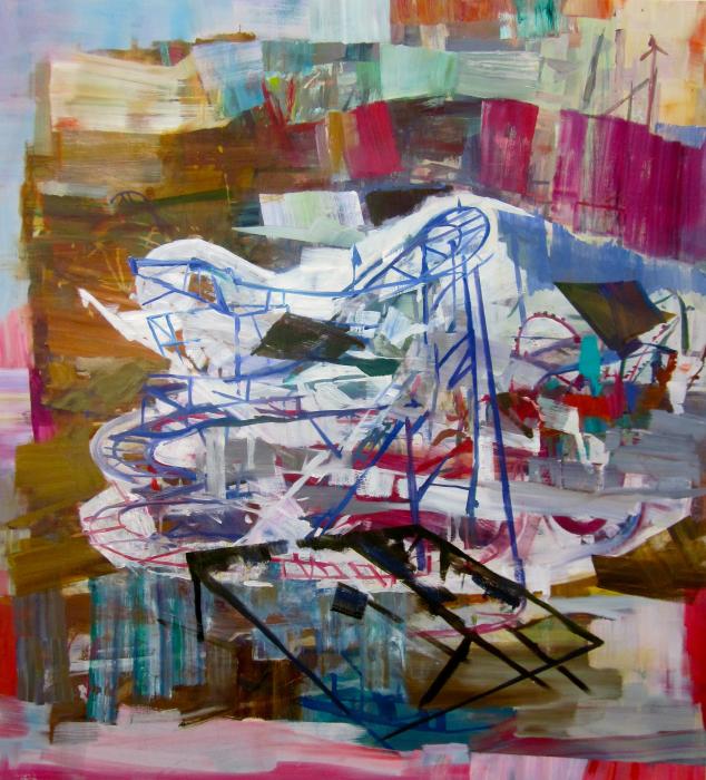 "Jet Star  Marie Thibeault LT180 Oil on Canvas 72"" x 66"""